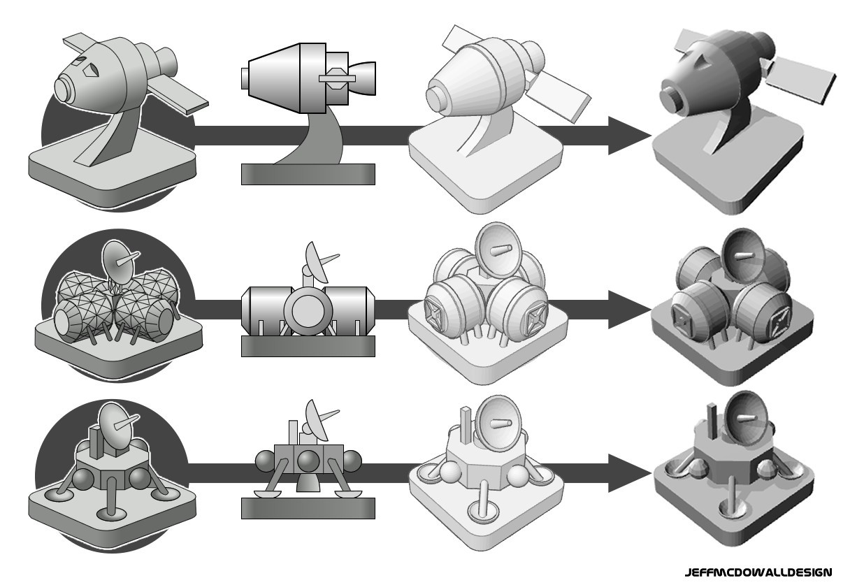 Concept to Model illustration.