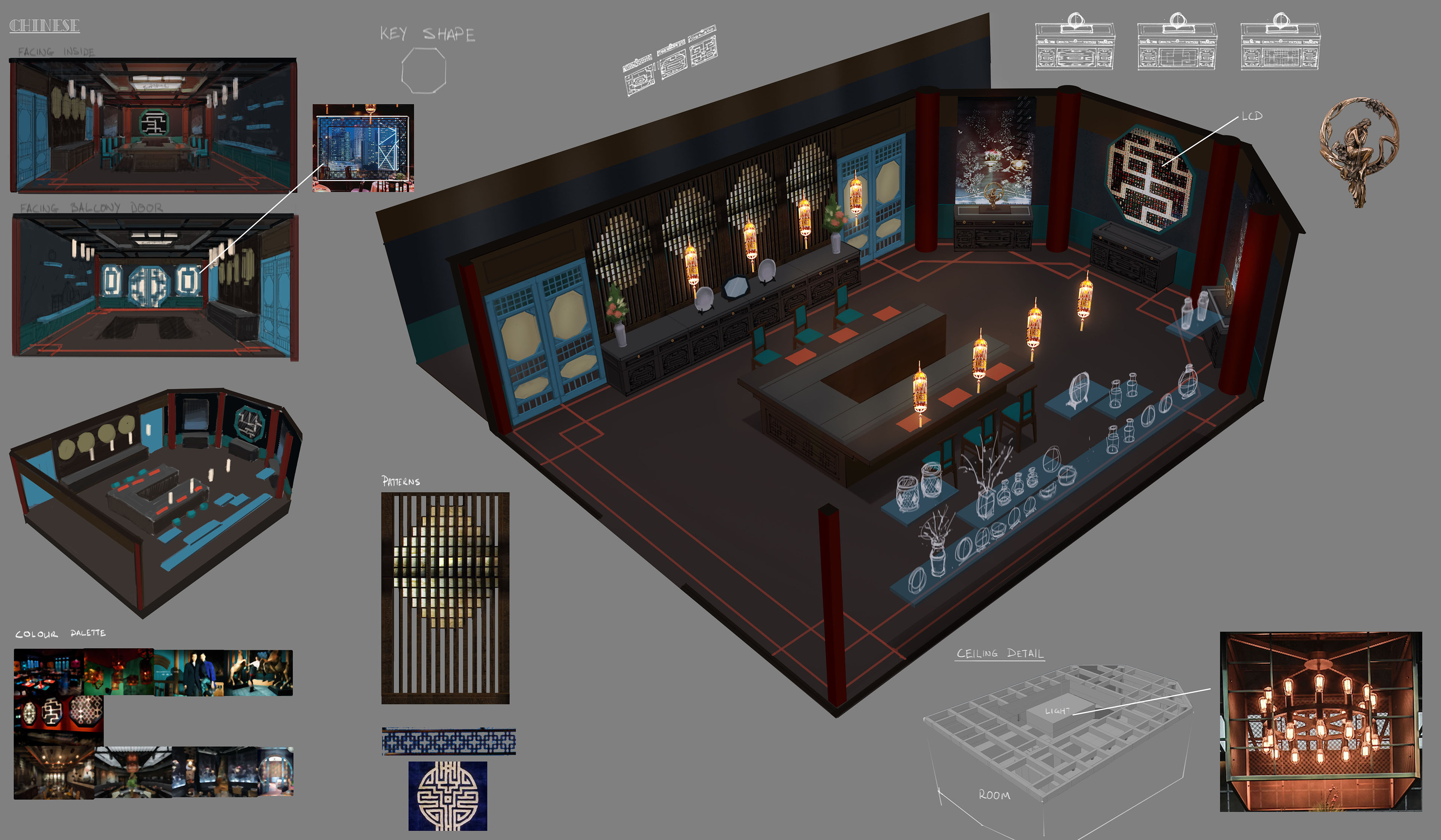 Dominic Chan Concept Art Design And Illustration Project Vr Chinese Restaurant