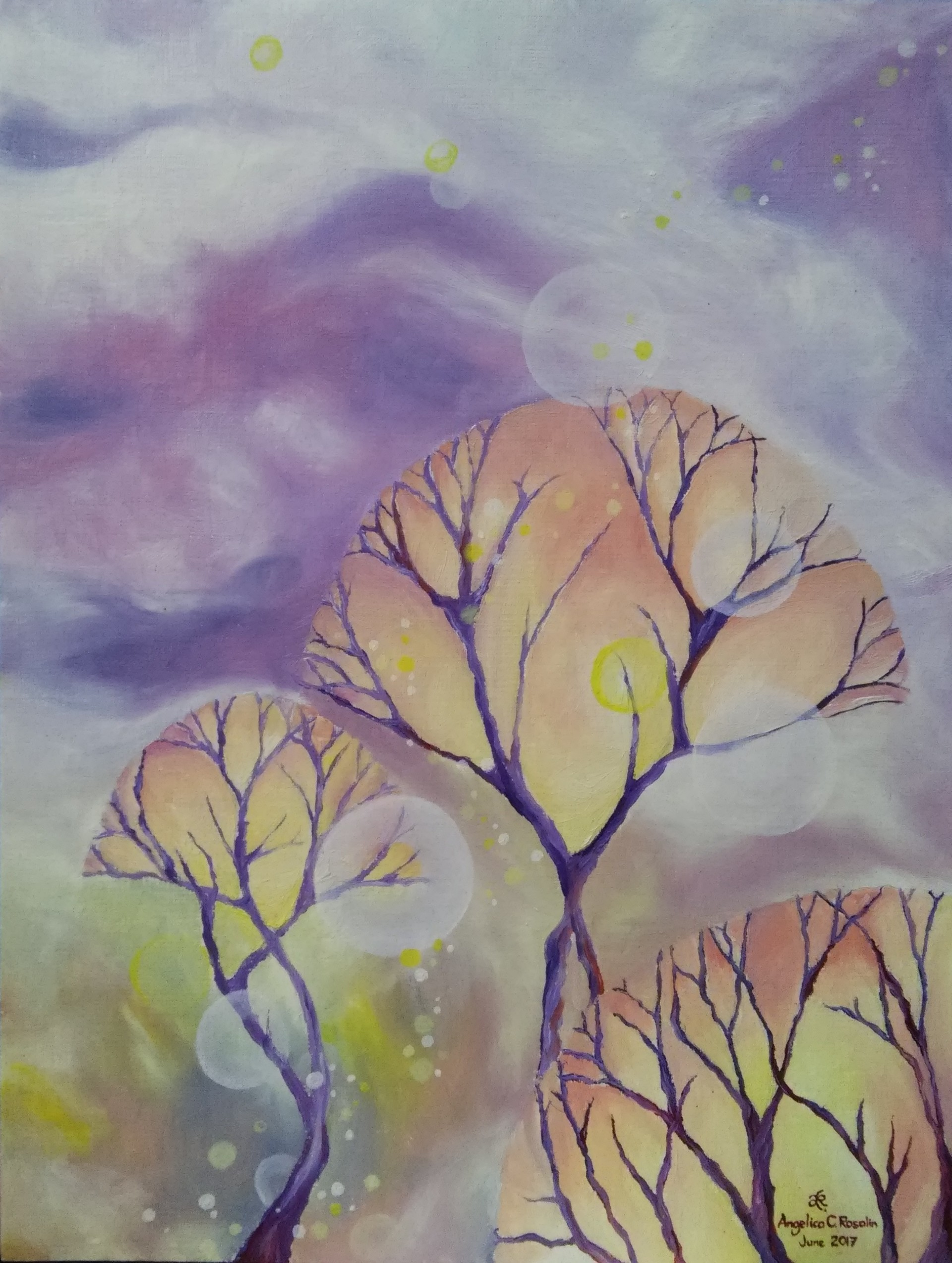 ArtStation - trees in a violet haze, AnnaMarieAngelica Rosalin