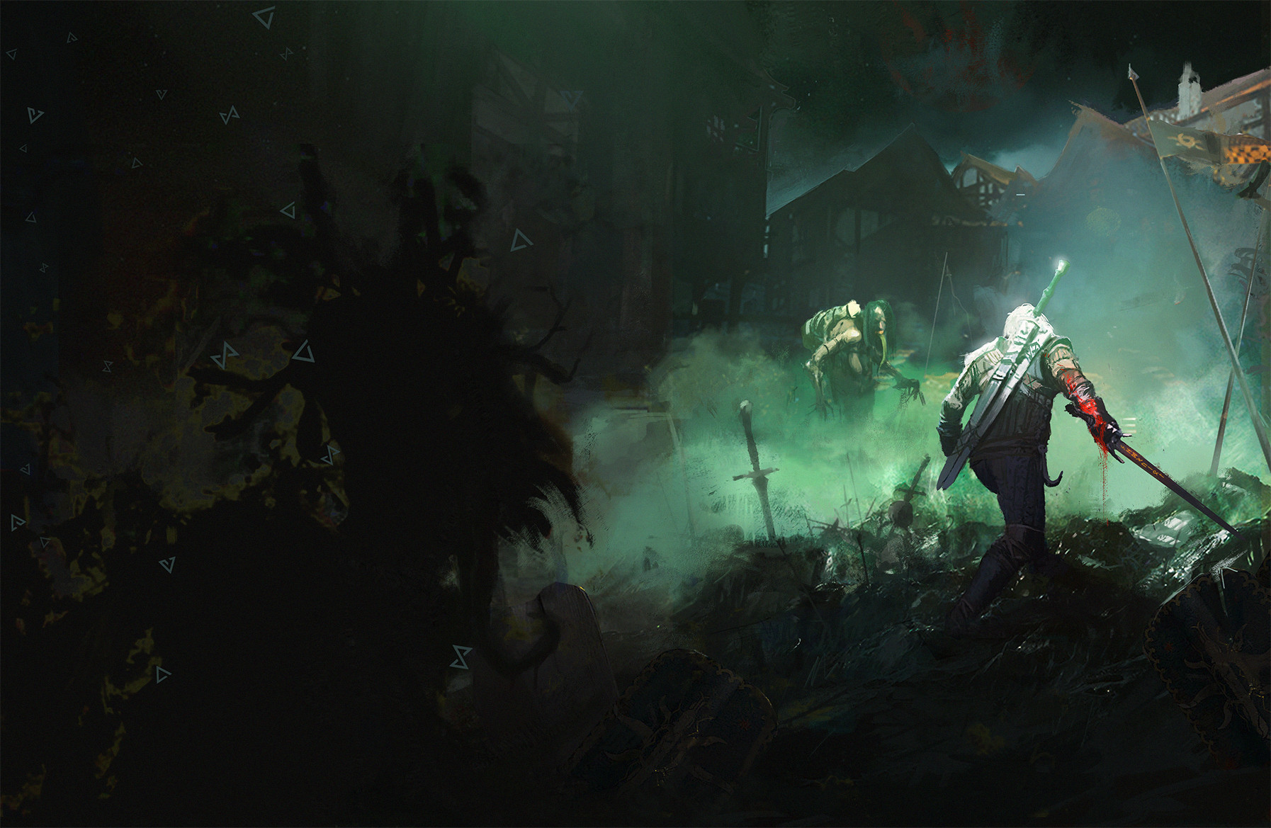 Ismail inceoglu the witcher the art 4th book cover fanart