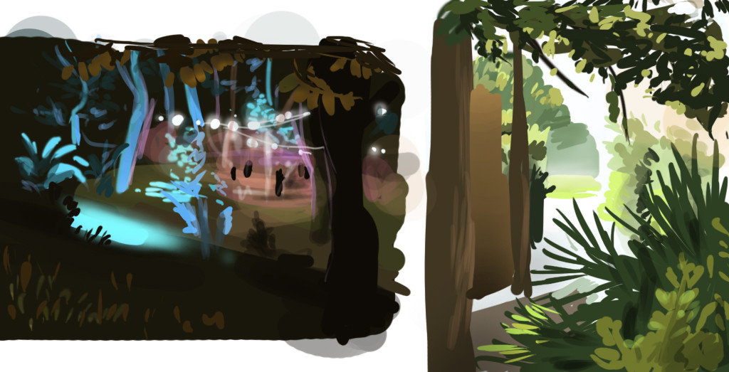 Quick studies from personal photos, trying to capture good colors, lights and compositions.