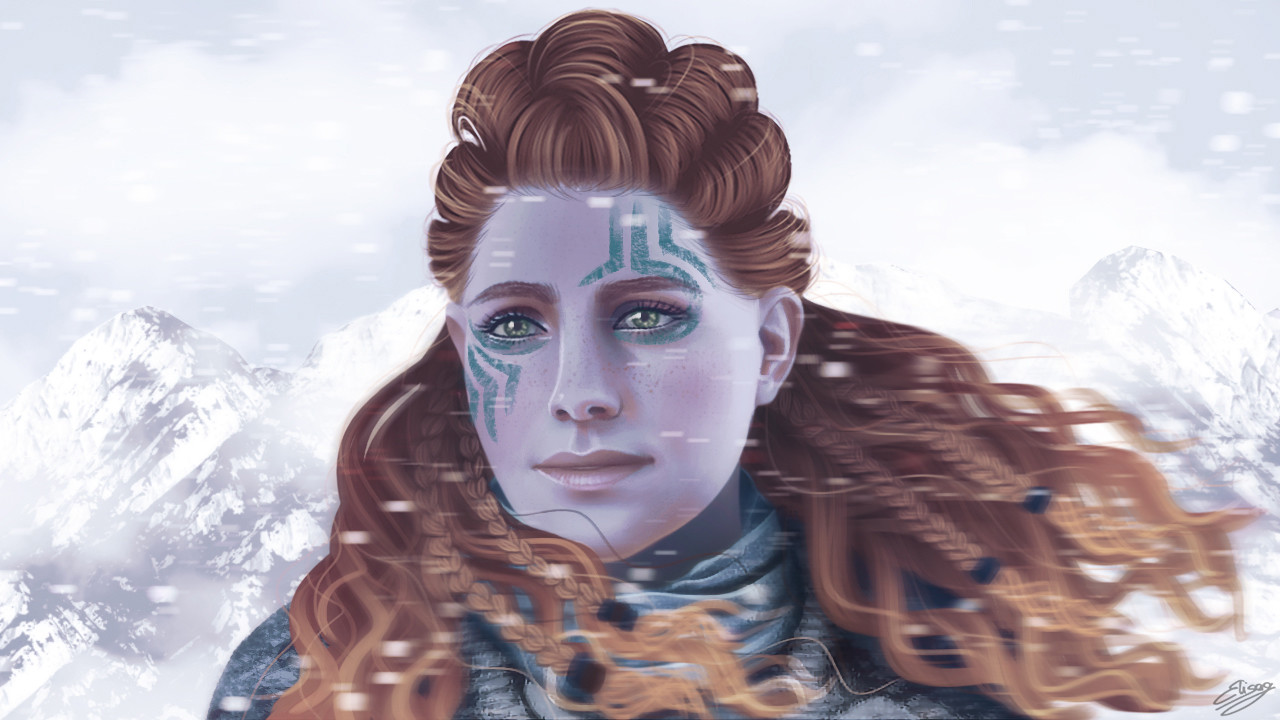 Artstation Aloy Horizon Zero Dawn The Frozen Wilds Fan Art Elisa Guerra