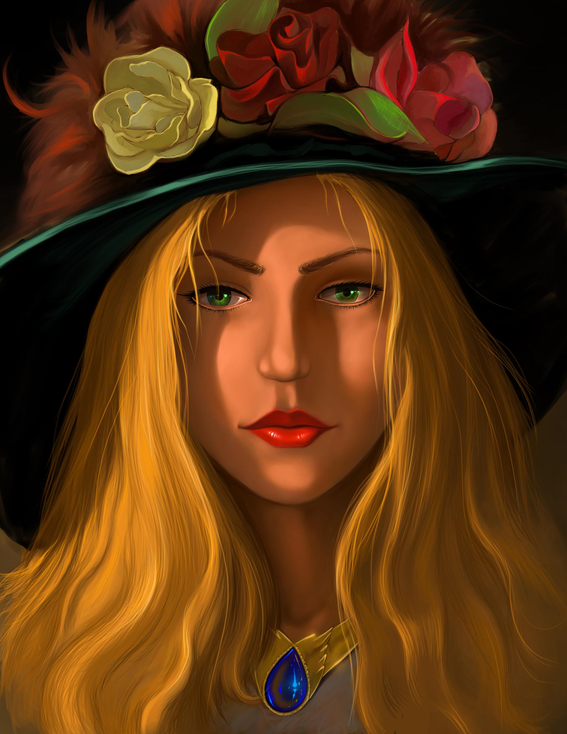 Blonde Woman Art