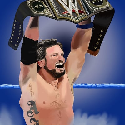 Andre smith aj styles wwe champ2 1