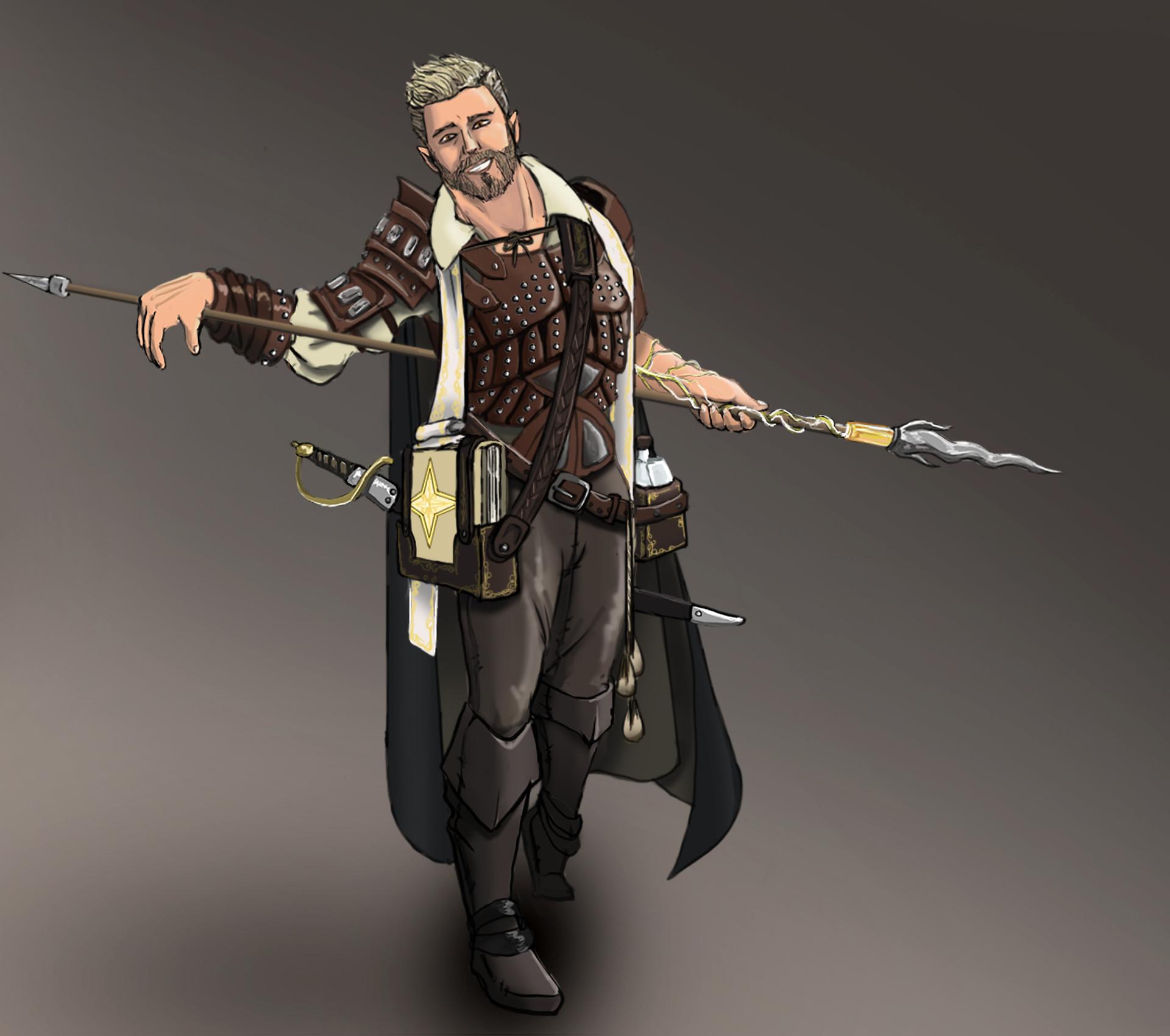 ArtStation - Ex-Pirate Cleric, Godric Goldtongue, Lane Libra