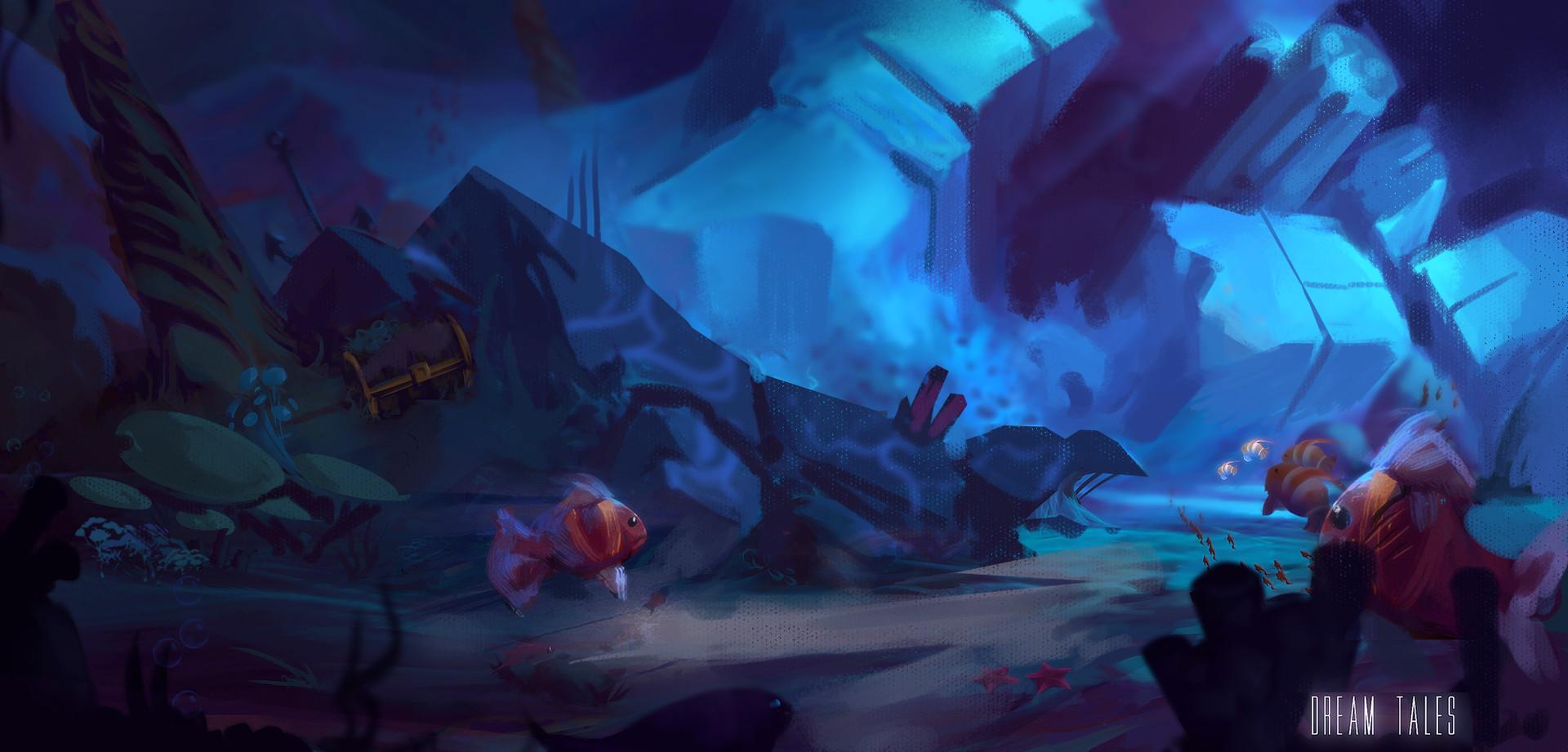 Roberto gatto underwater cave ruin
