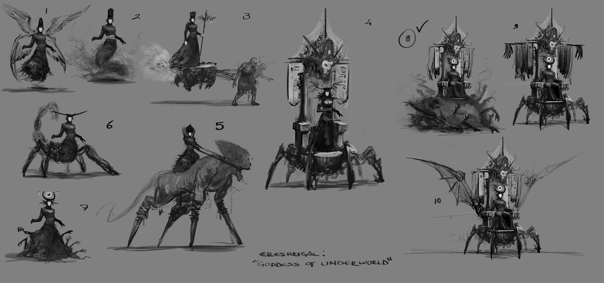 Yigit koroglu ereshkigal sketches