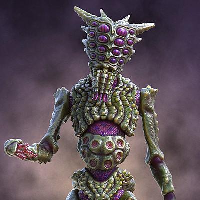 Ken calvert alien insectoid renders front