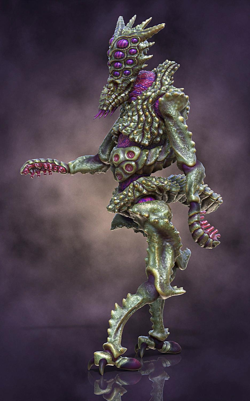 Ken calvert alien insectoid renders left