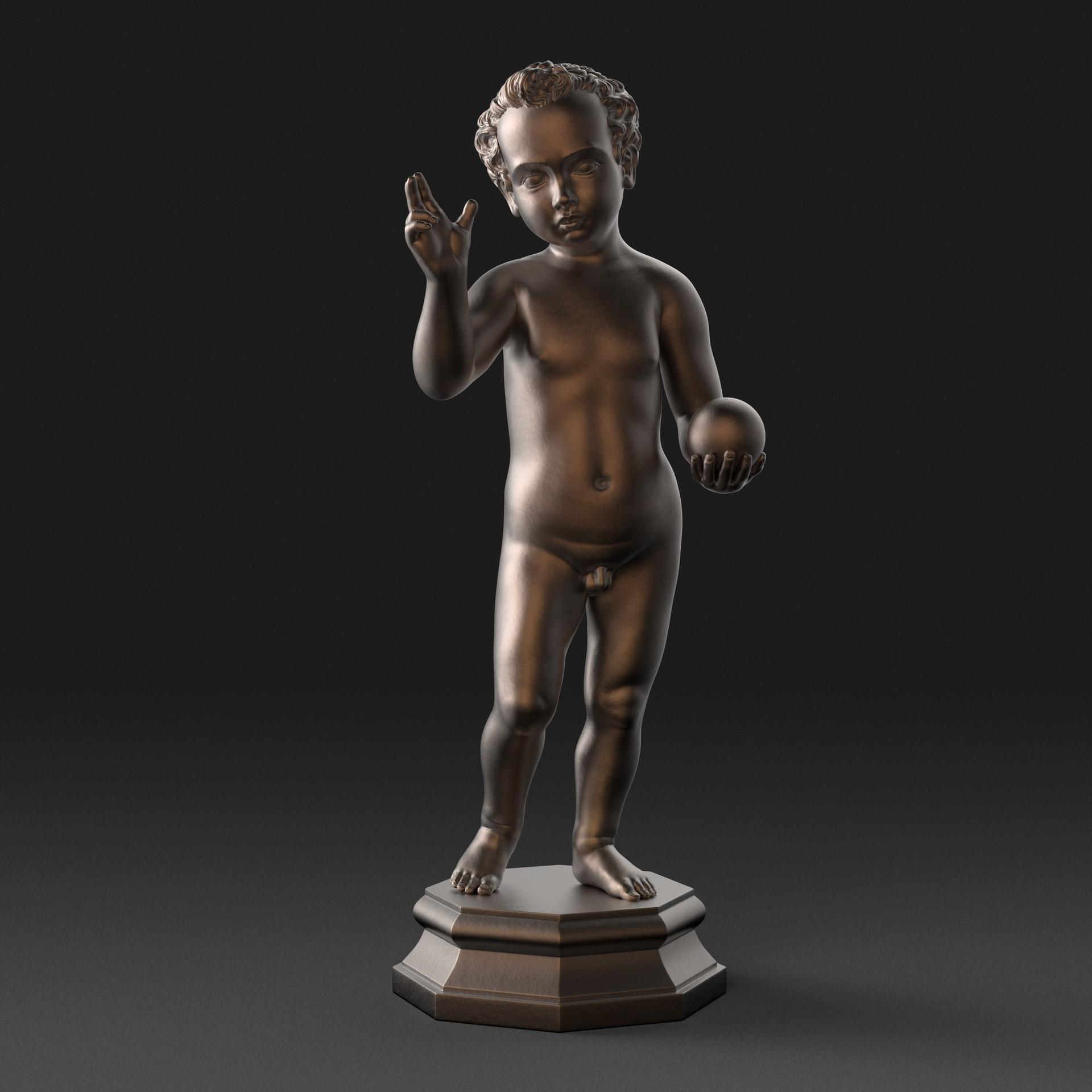 Ken calvert bronze christ child