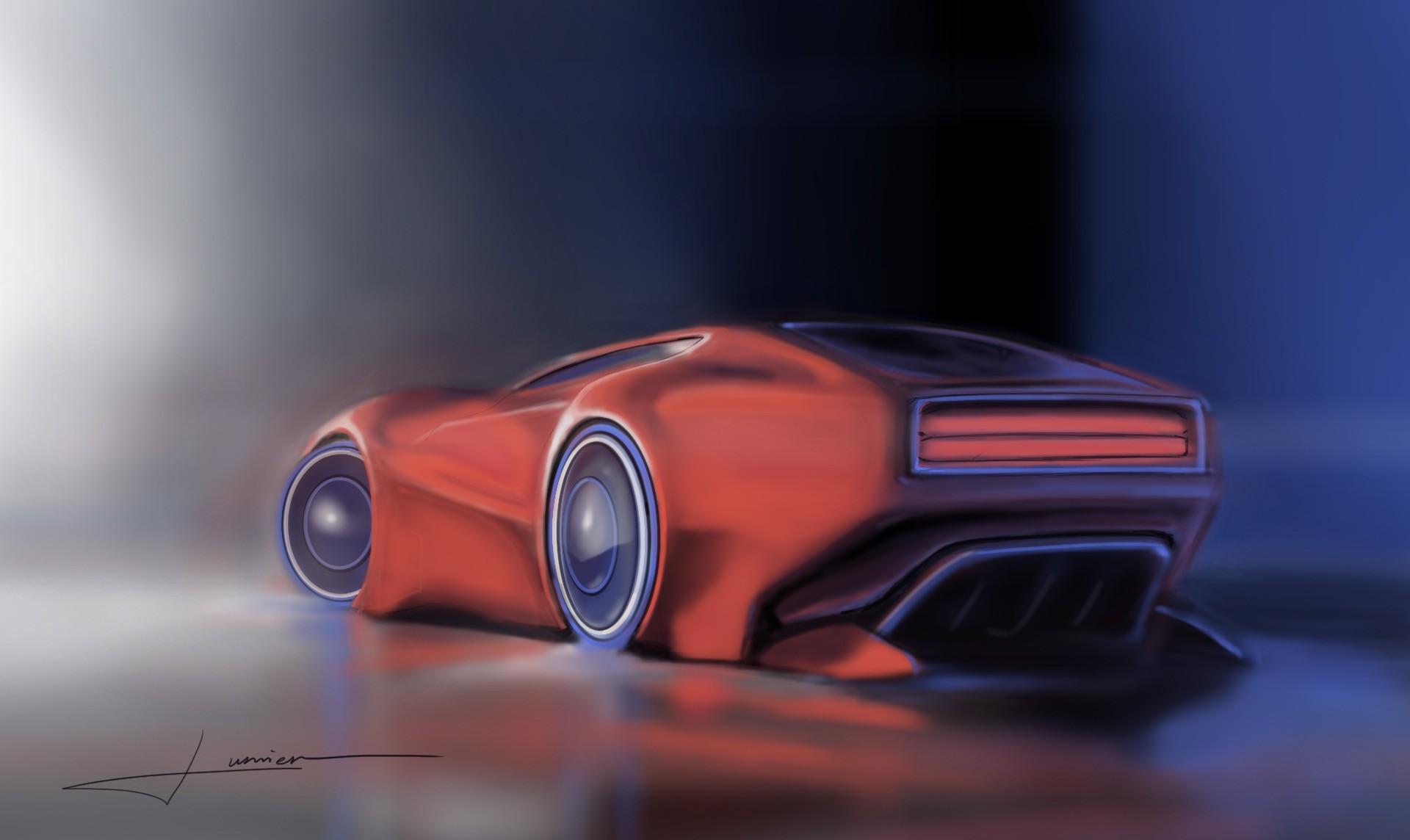 Cyberpunk Car Concept Art