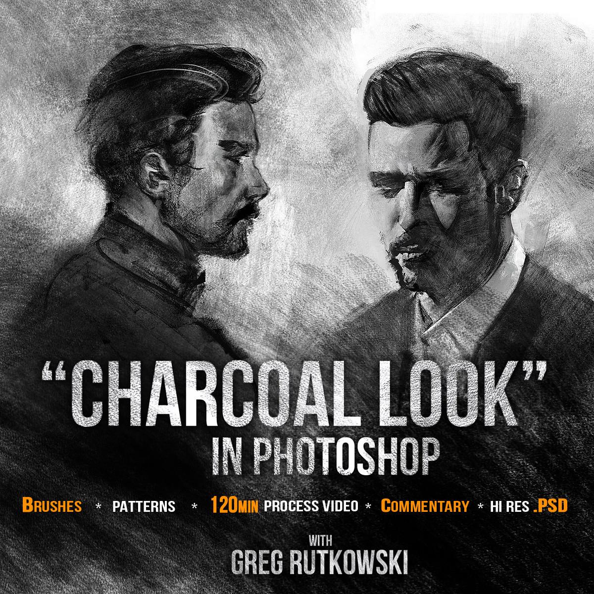 Greg rutkowski charcoal look cover 1200 2