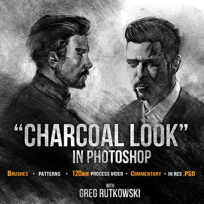 Greg rutkowski charcoal look cover 1200 2
