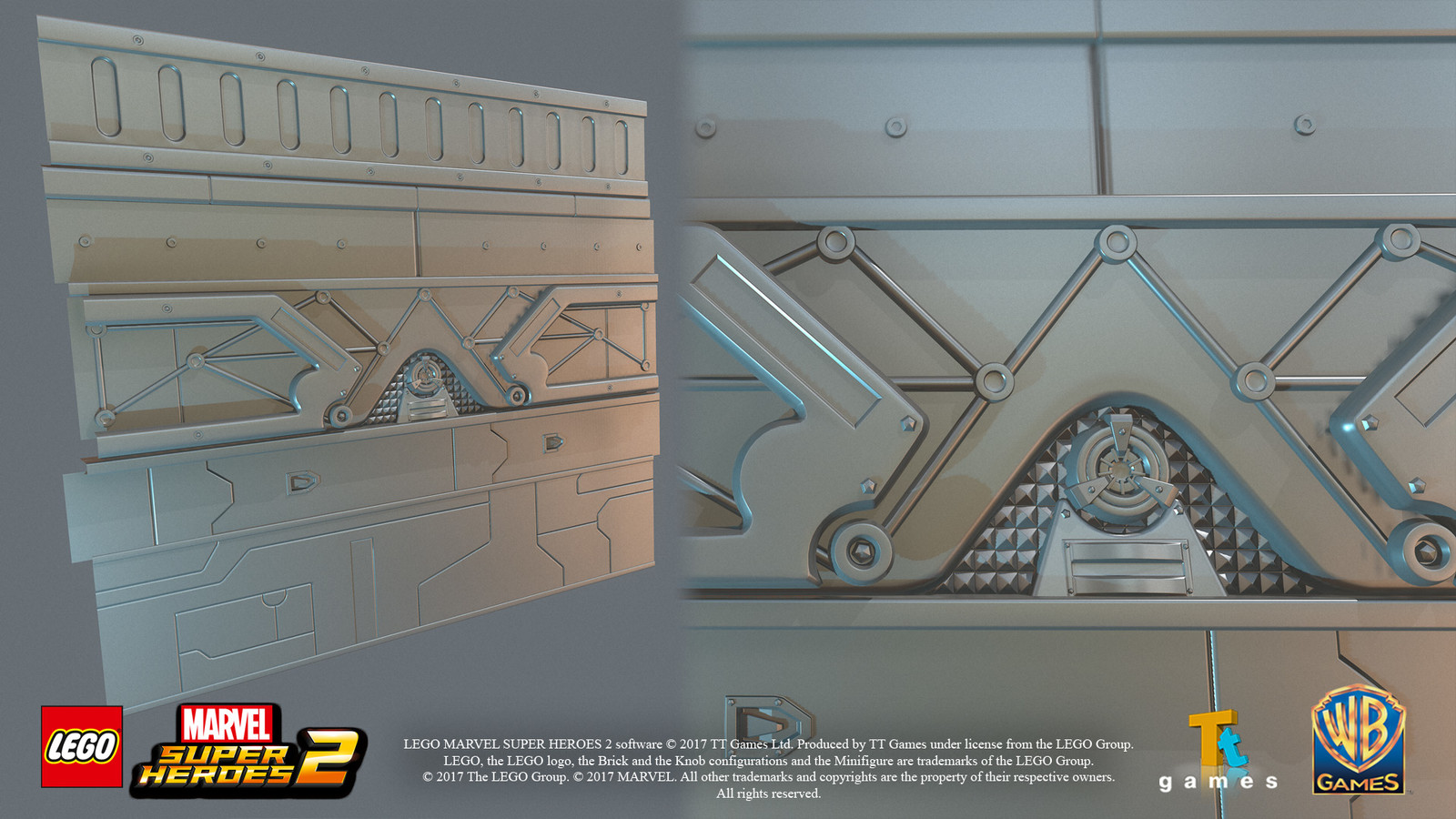 Hi-res panels for texture bake