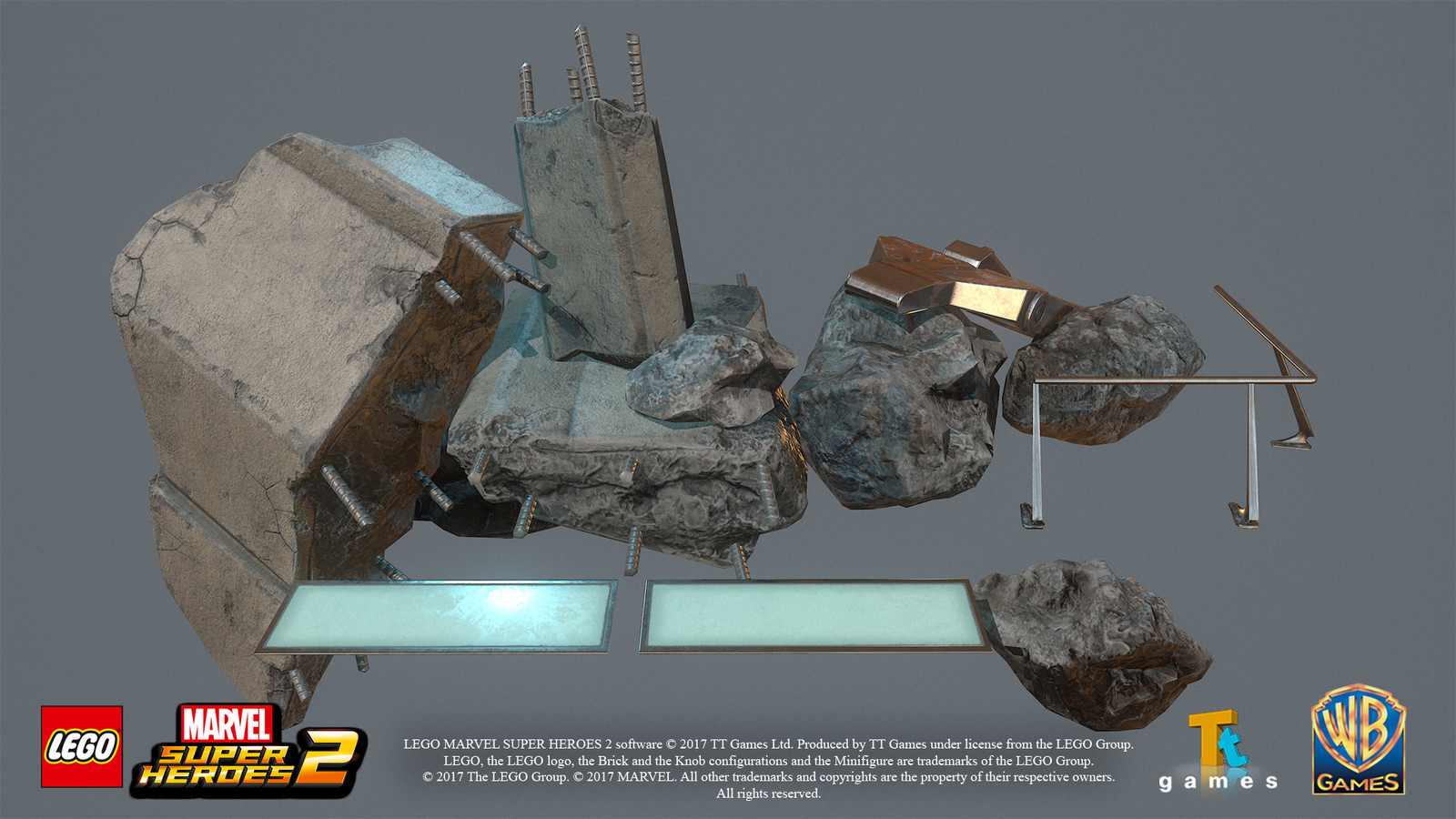 Game res debris models