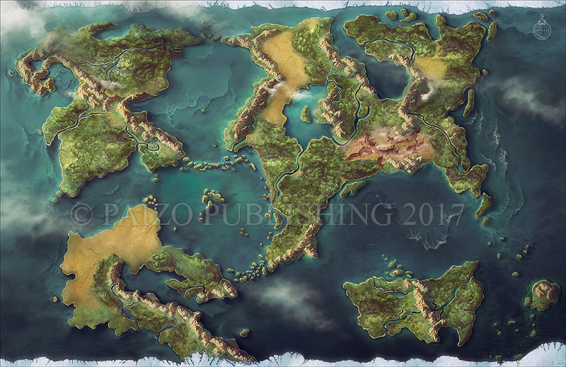 Castrovel world Map for Starfinder Adventure Path: Temple of the Twelve.