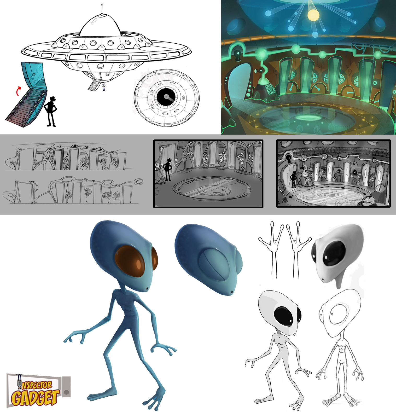Inspector Gadget Alien Designs
