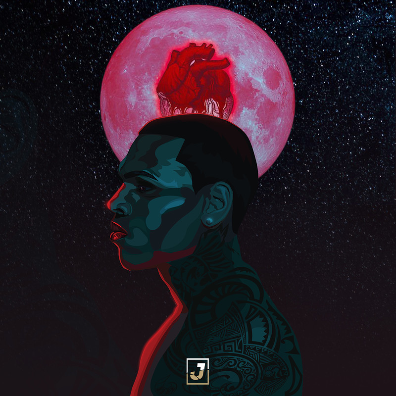 Chris Brown's Heartbreak on a Full Moon Album Art