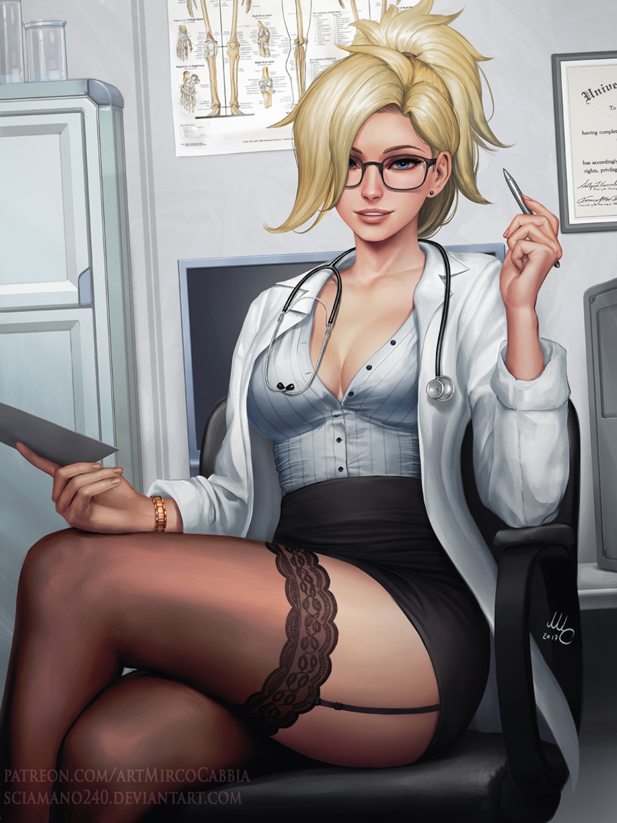 artstation - doctor mercy - overwatch, mirco cabbia (sciamano240)