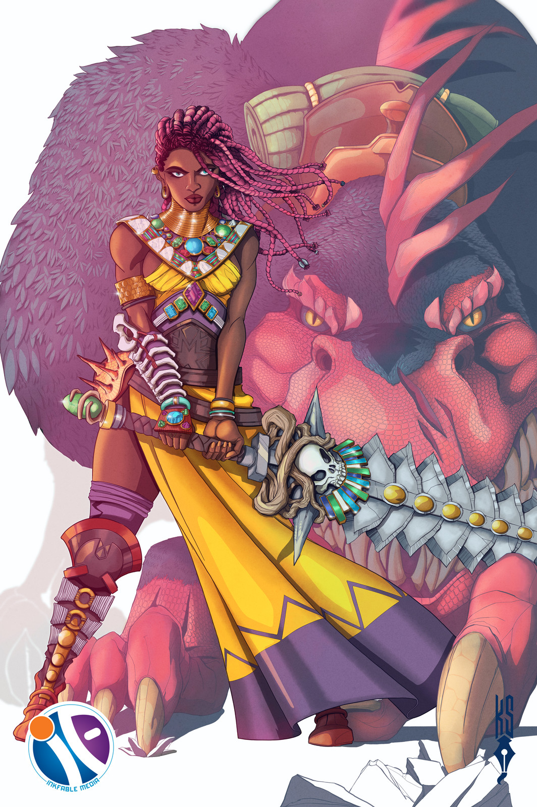 Illustration Original Character for a submission.
