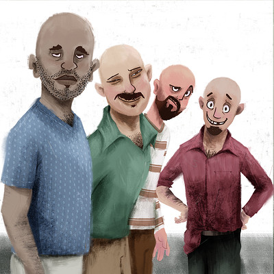 Parwinder singh 4 bald men