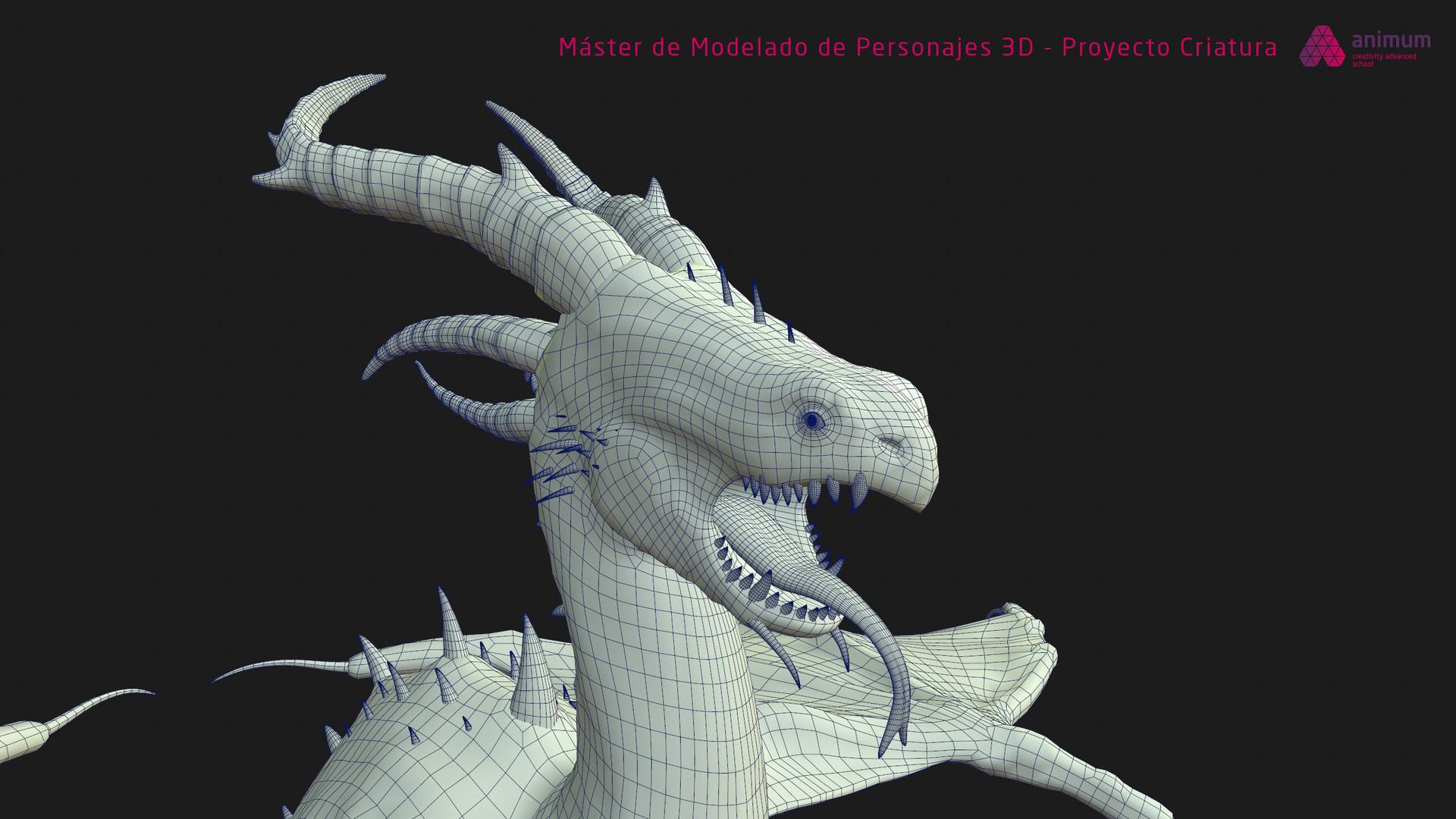 Miquel purra modelado 3d criatura miquel purra hex front wire