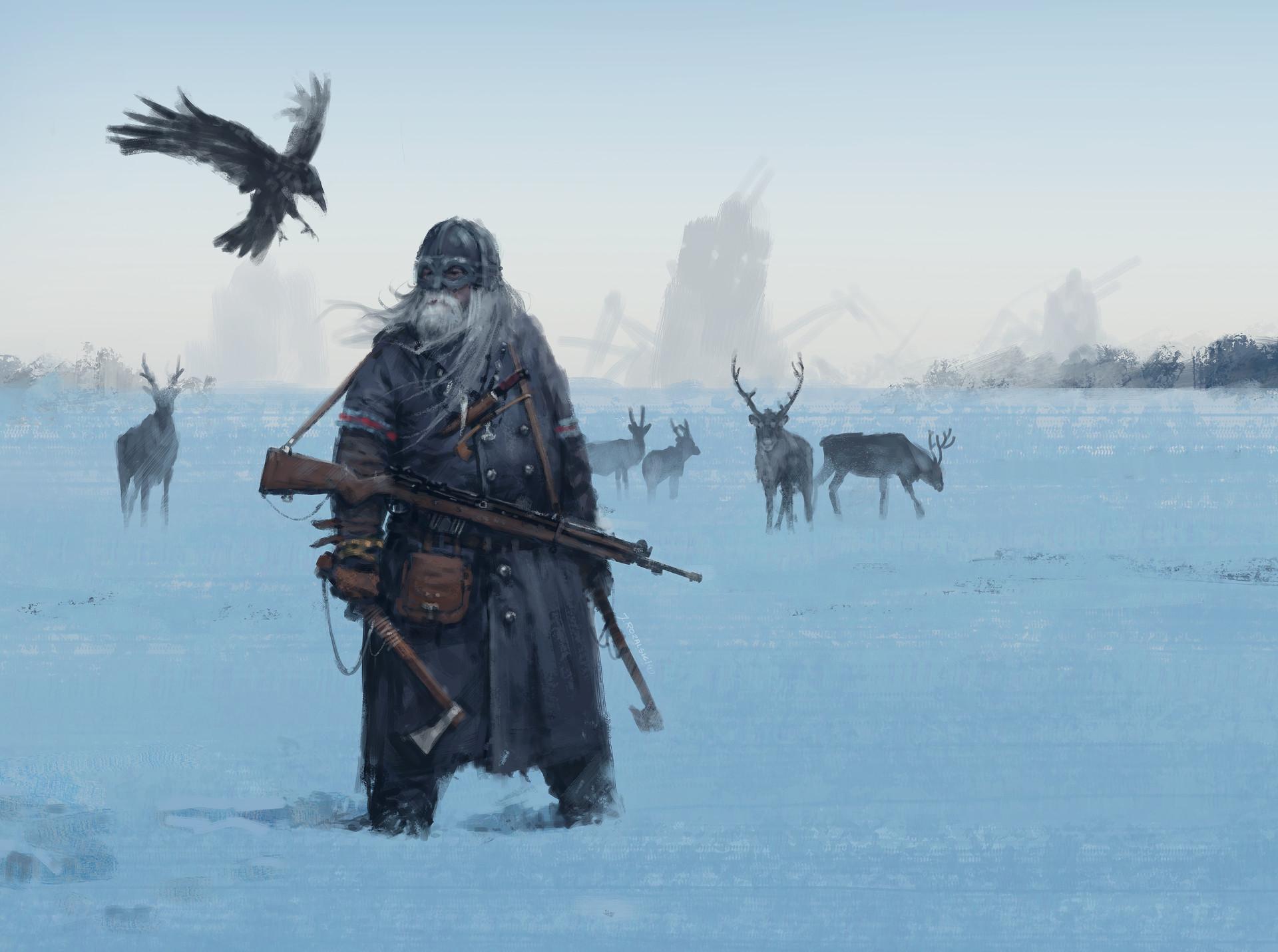 Jakub rozalski steampunk vikings