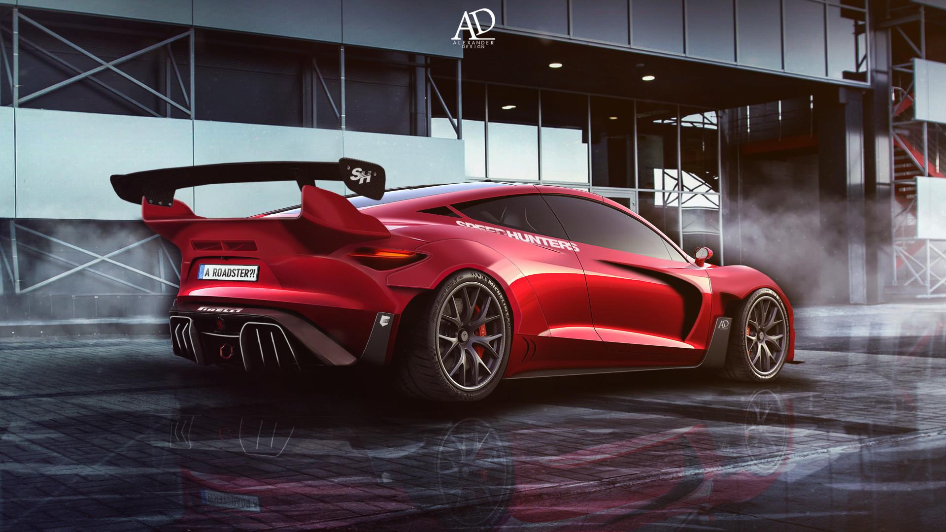 Artstation New Tesla Roadster Rocketbunny Alexander Design