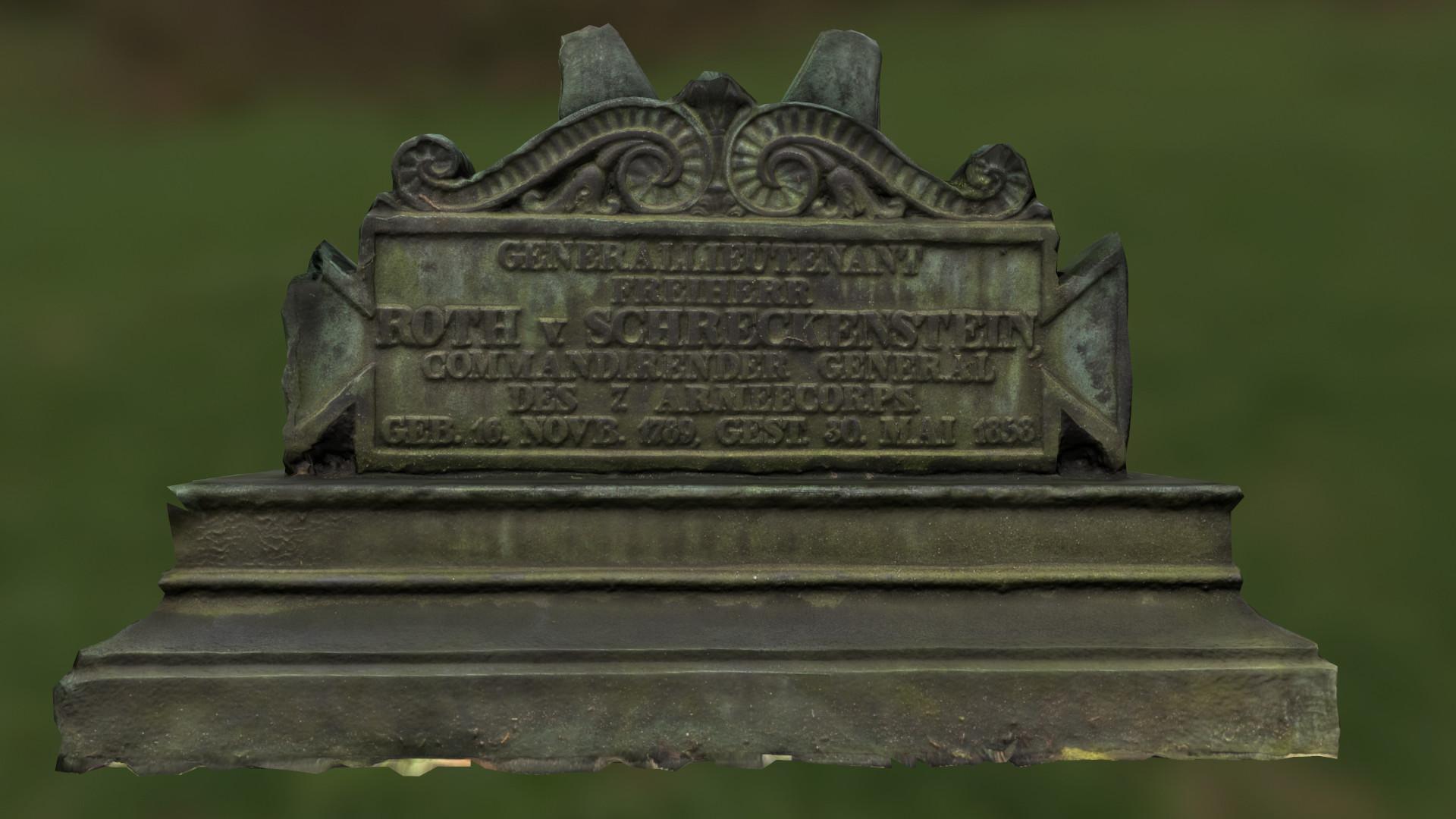 Rank, birth and death date of von Schreckenstein