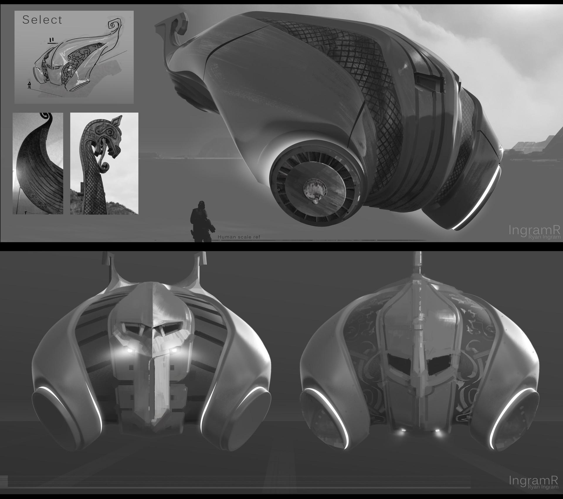 Ryan Ingram Norse Sci Fi Ship Design