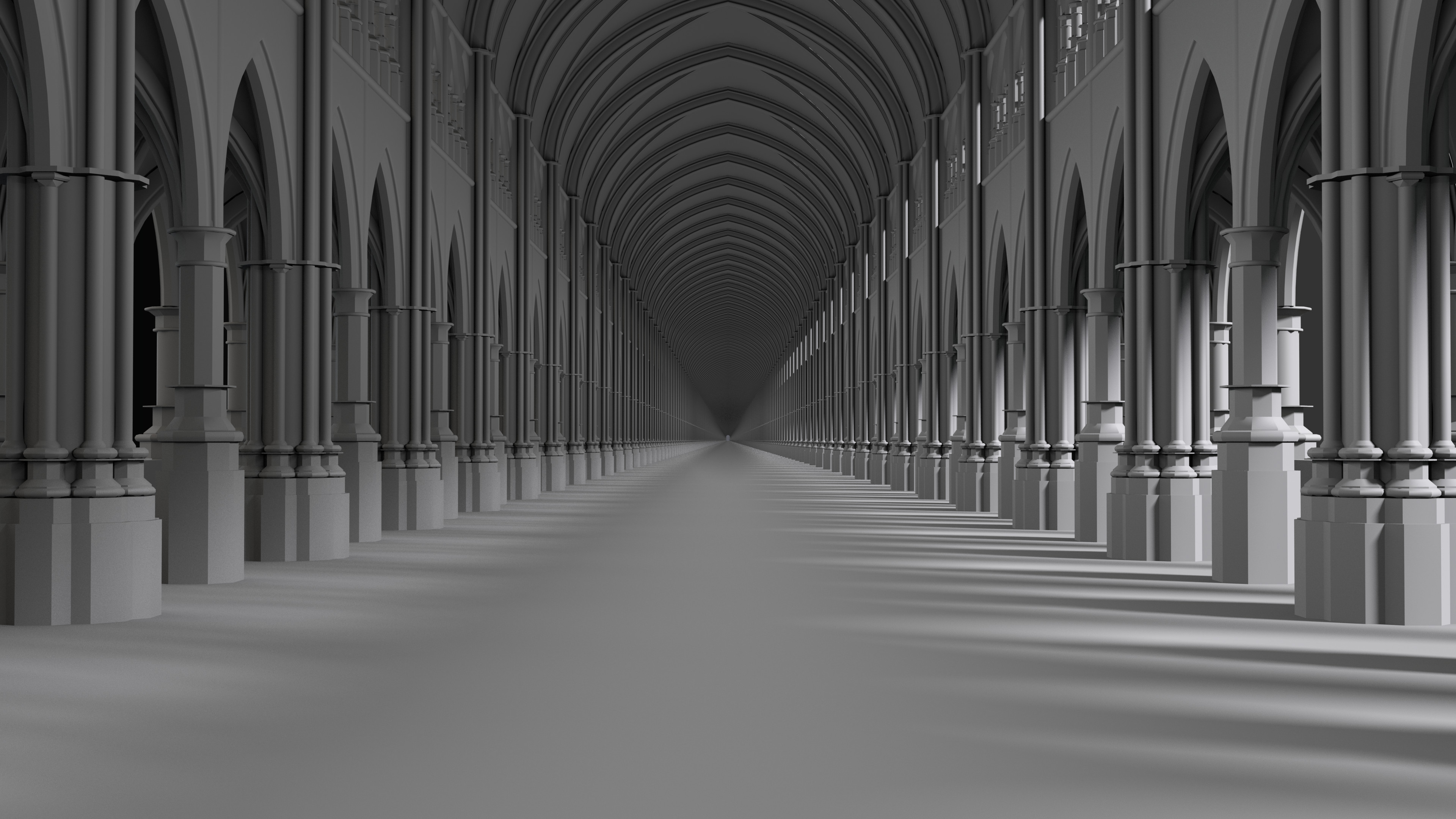 Never ending, gothic architecture proceduralized (CGtrader awards entry)