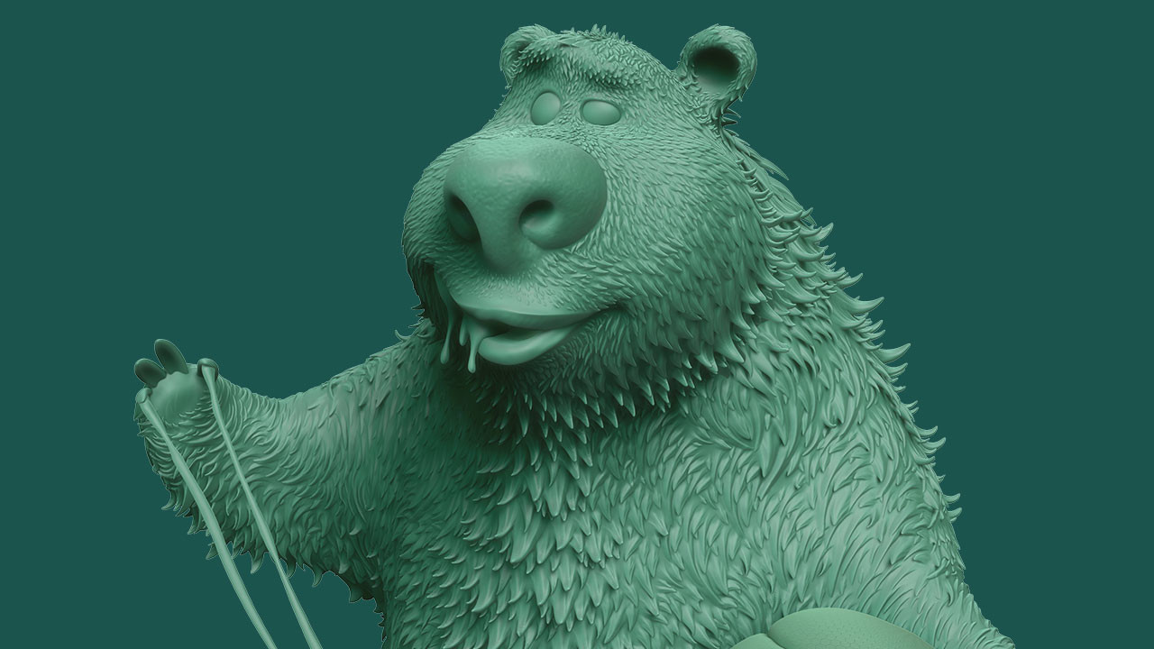 Stylised bear character (ZBrush Single BPR)