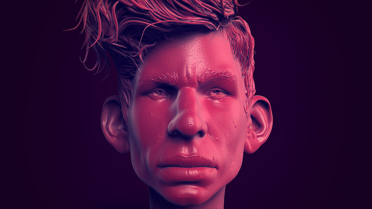Stylised character head (ZBrush Single BPR)