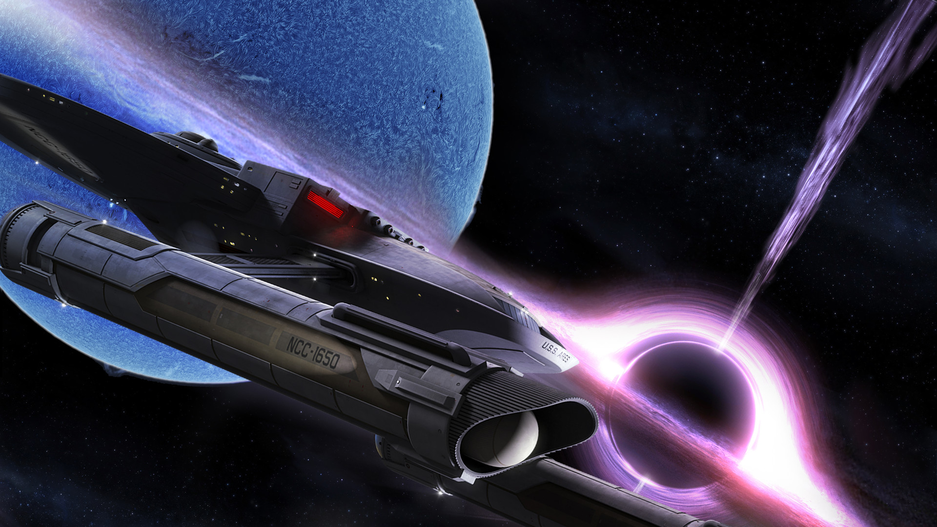 Digital composite using NASA imagery elements from the Fan-Film Axanar