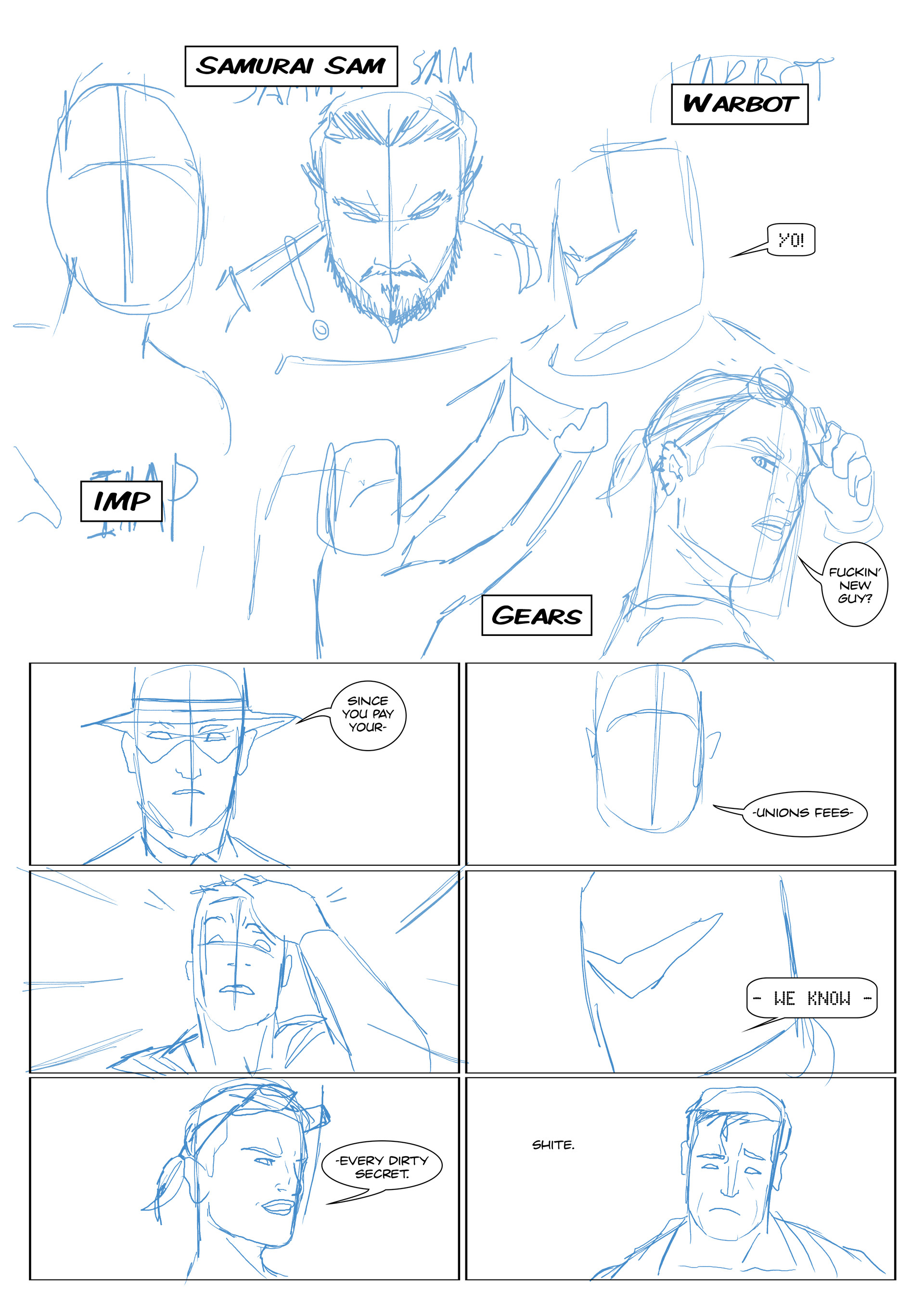 Elliot balson page 3 roughs