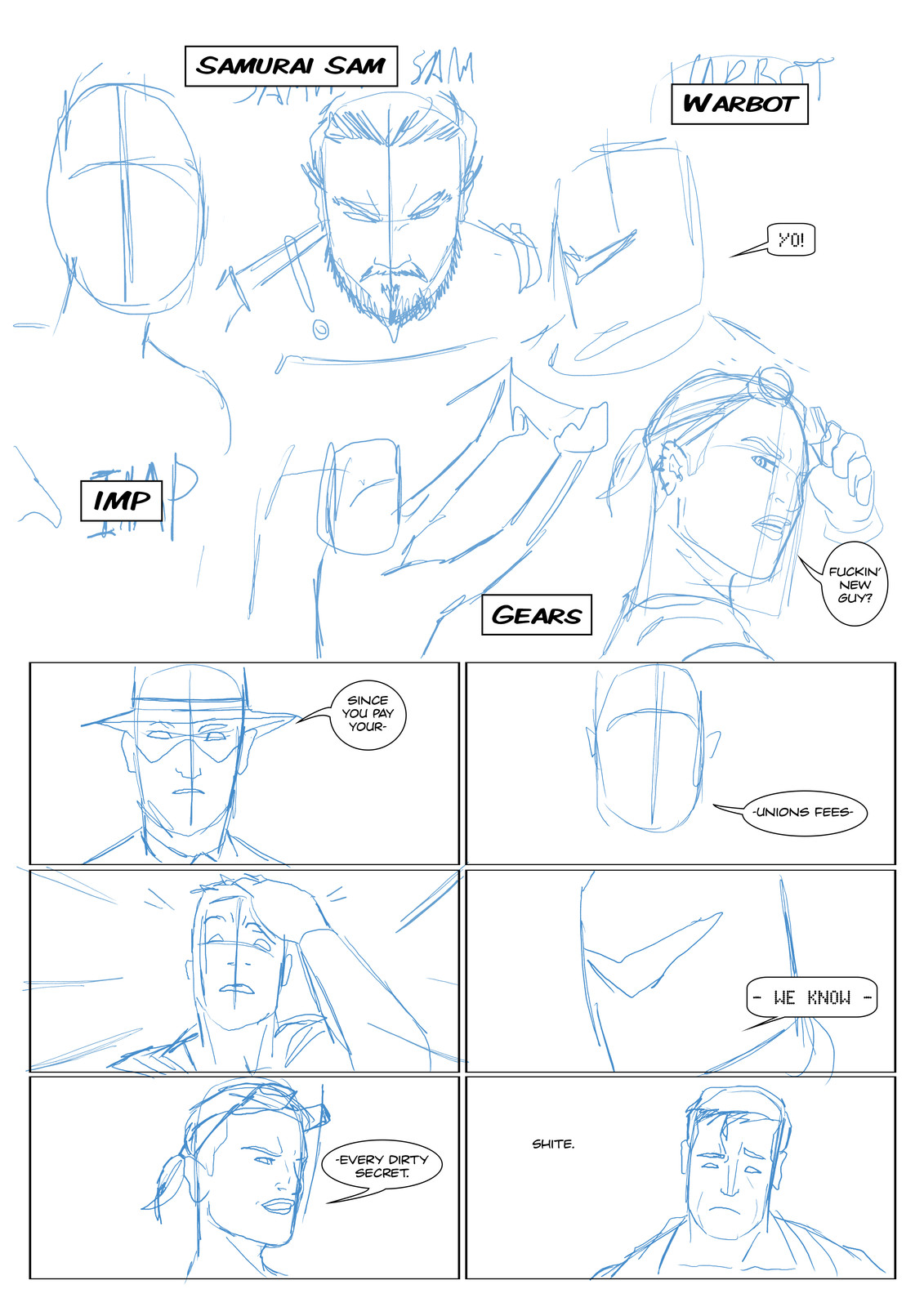 Page 3 Roughs