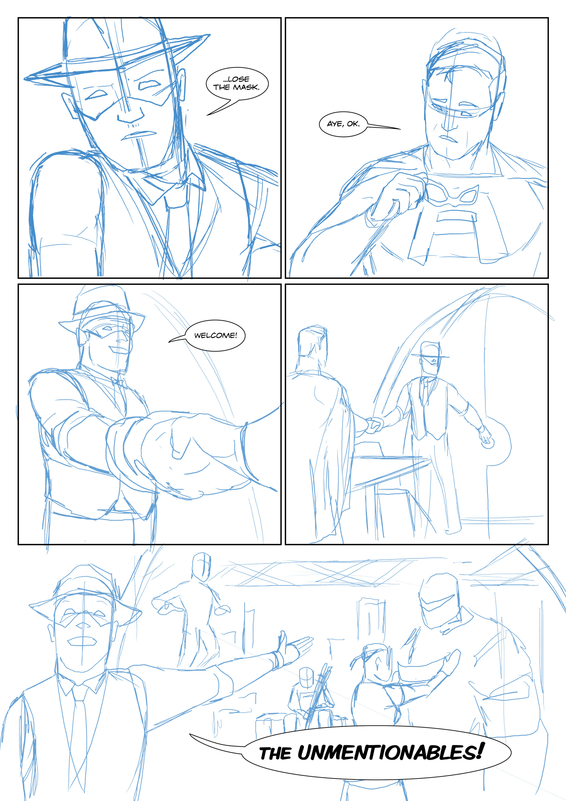 Elliot balson page 2 roughs