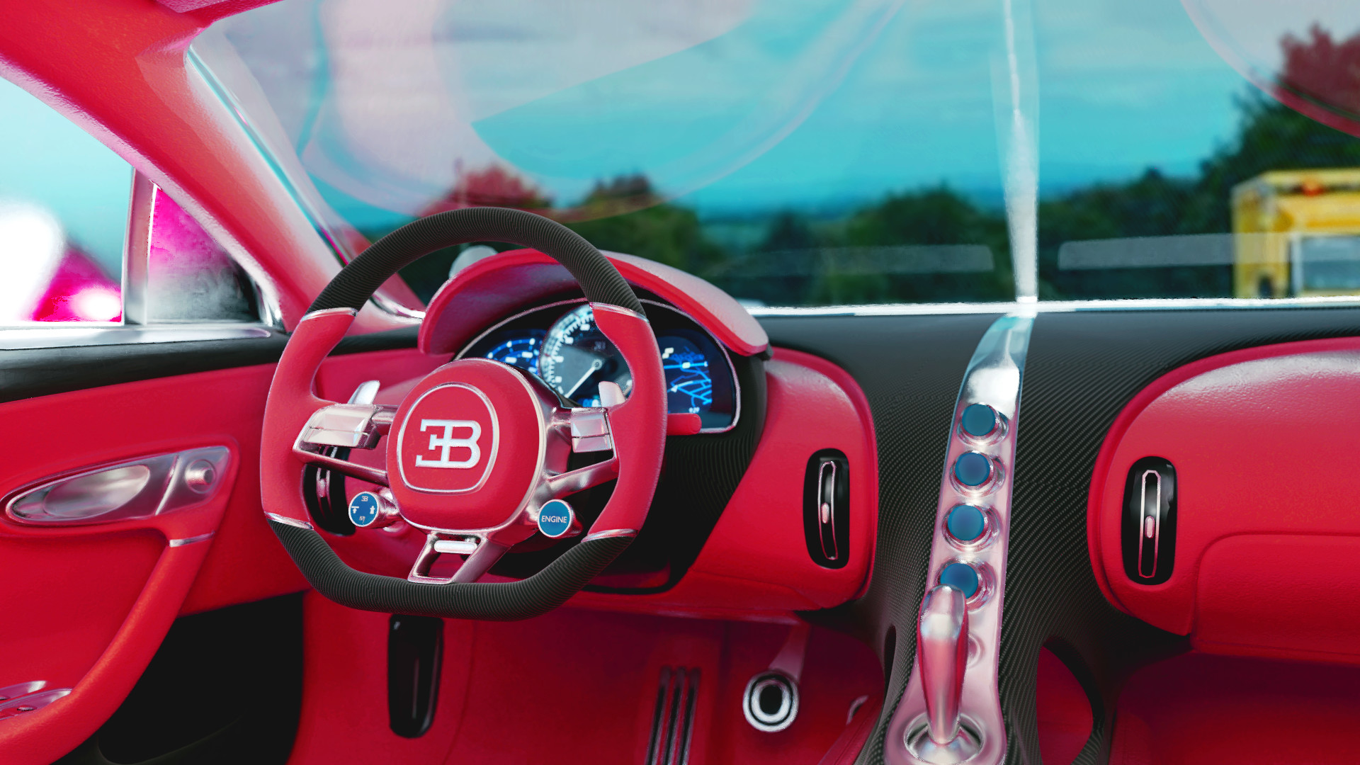 naman deep - bugatti chiron with interior