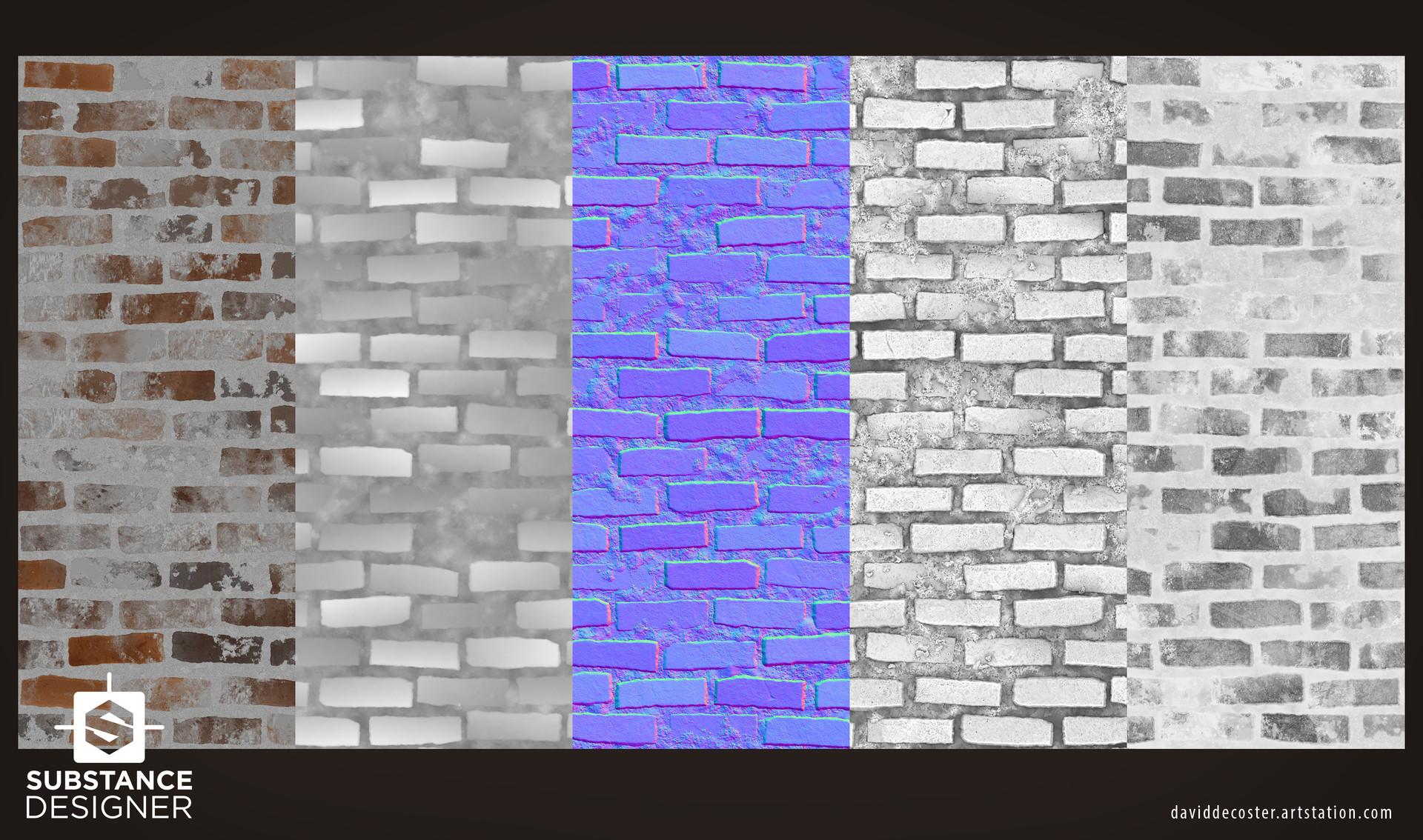 David decoster decoster brick wall textures