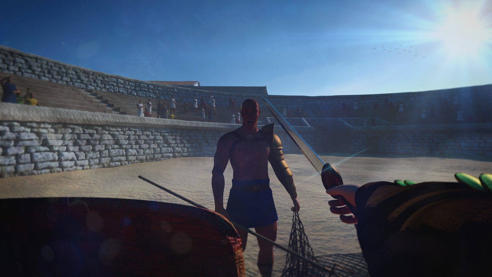 Roman Amphitheatre Scene