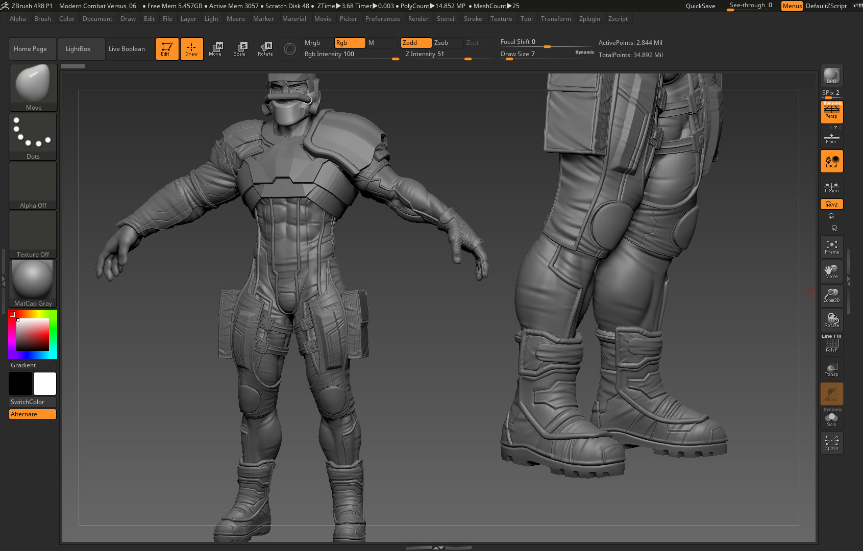 duc leanh - Train 3d character ( Wip 1 )