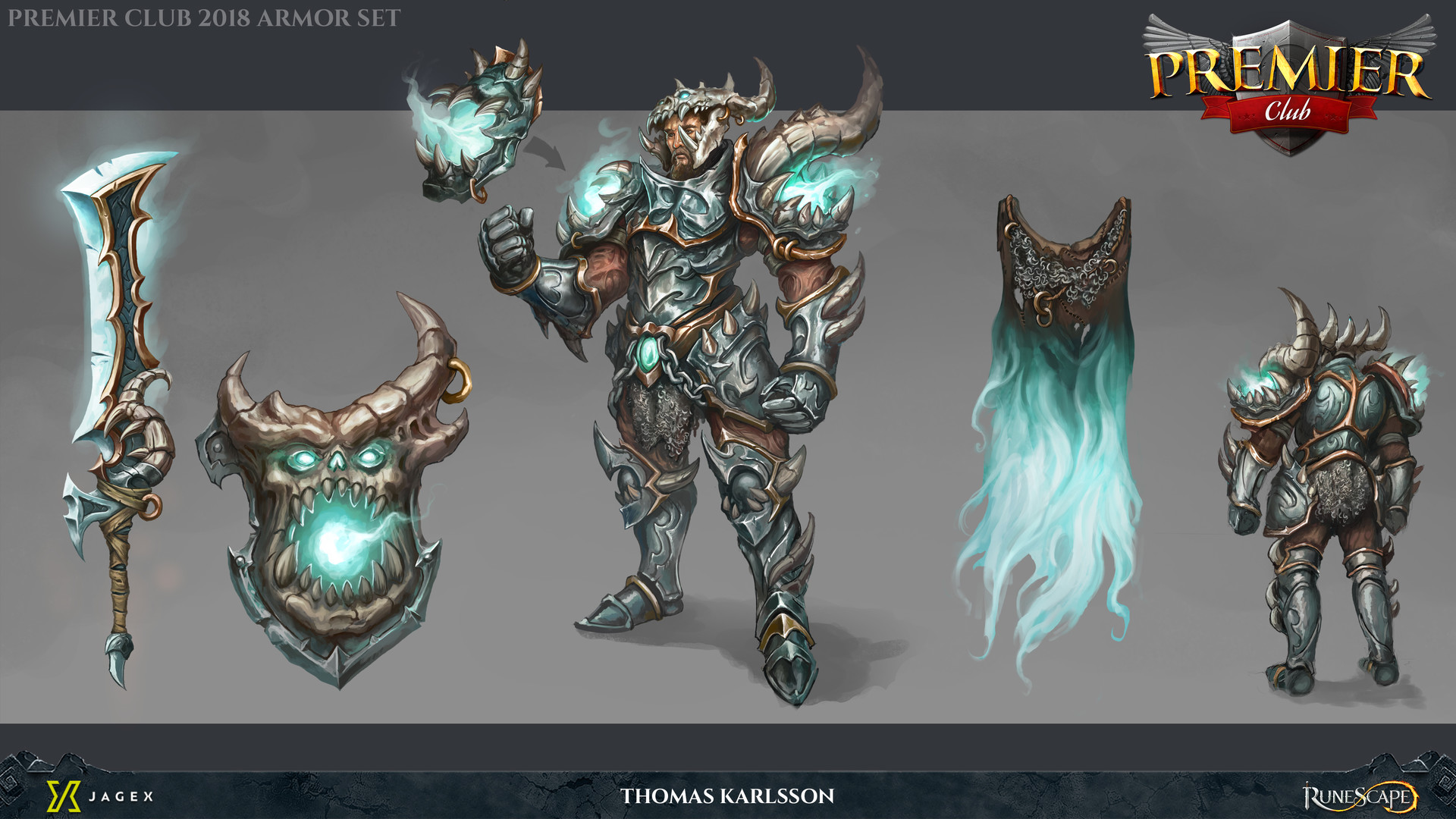 Artstation Runescape Premier Club 2018 Armor Set Thomas Karlsson