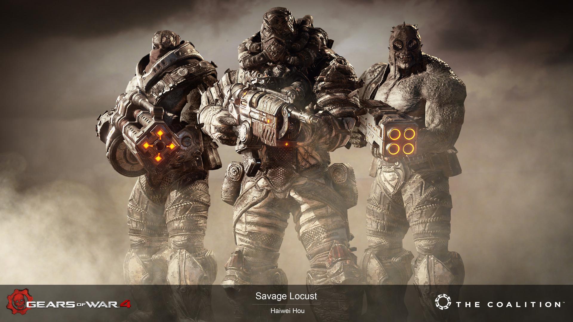 Gears Of War 4 Savage Locust - 4K render