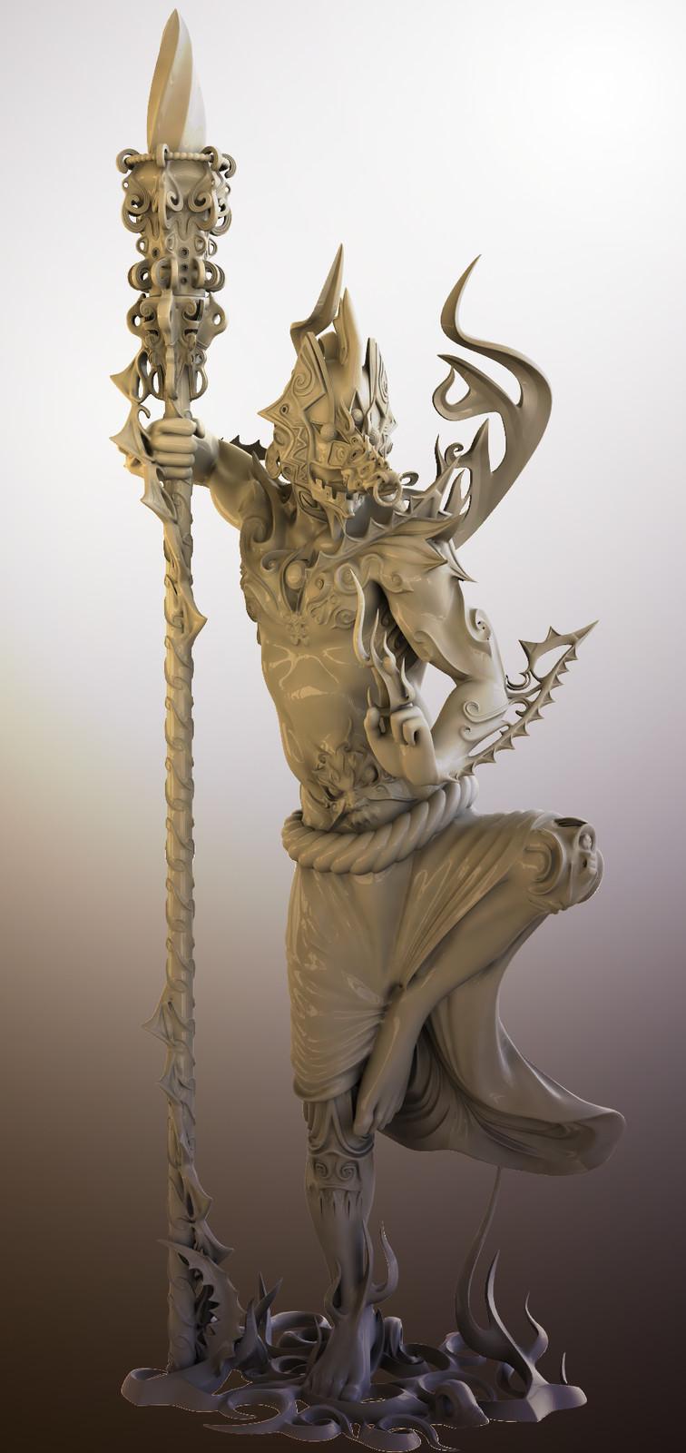"""""""Sarutahiko"""" CGI, for 3D printing"""