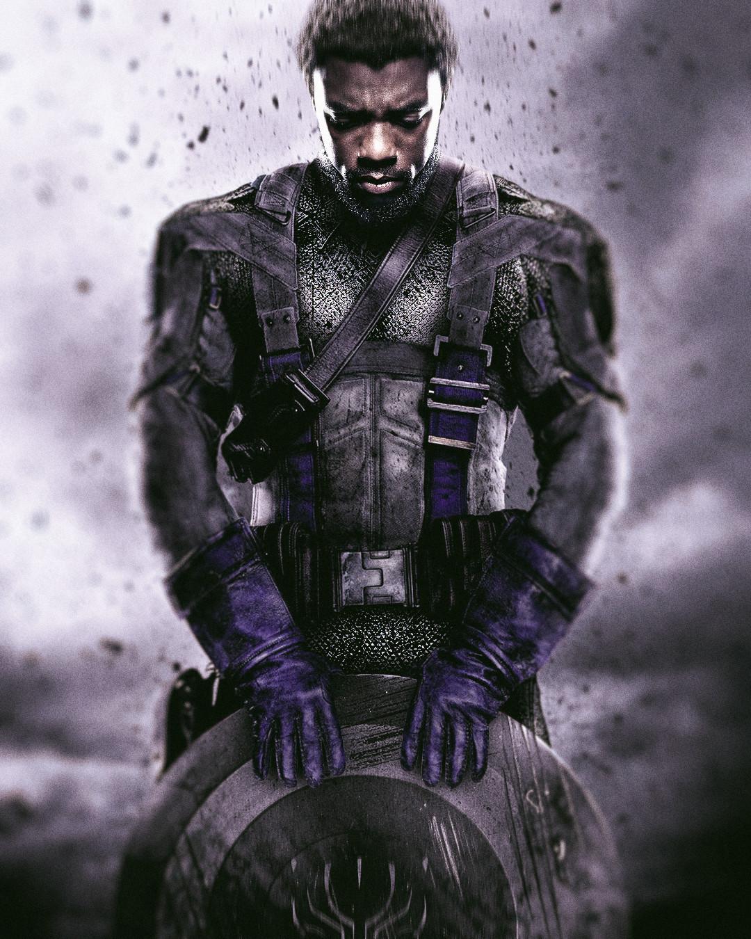 Black Panther x Captain America mashup