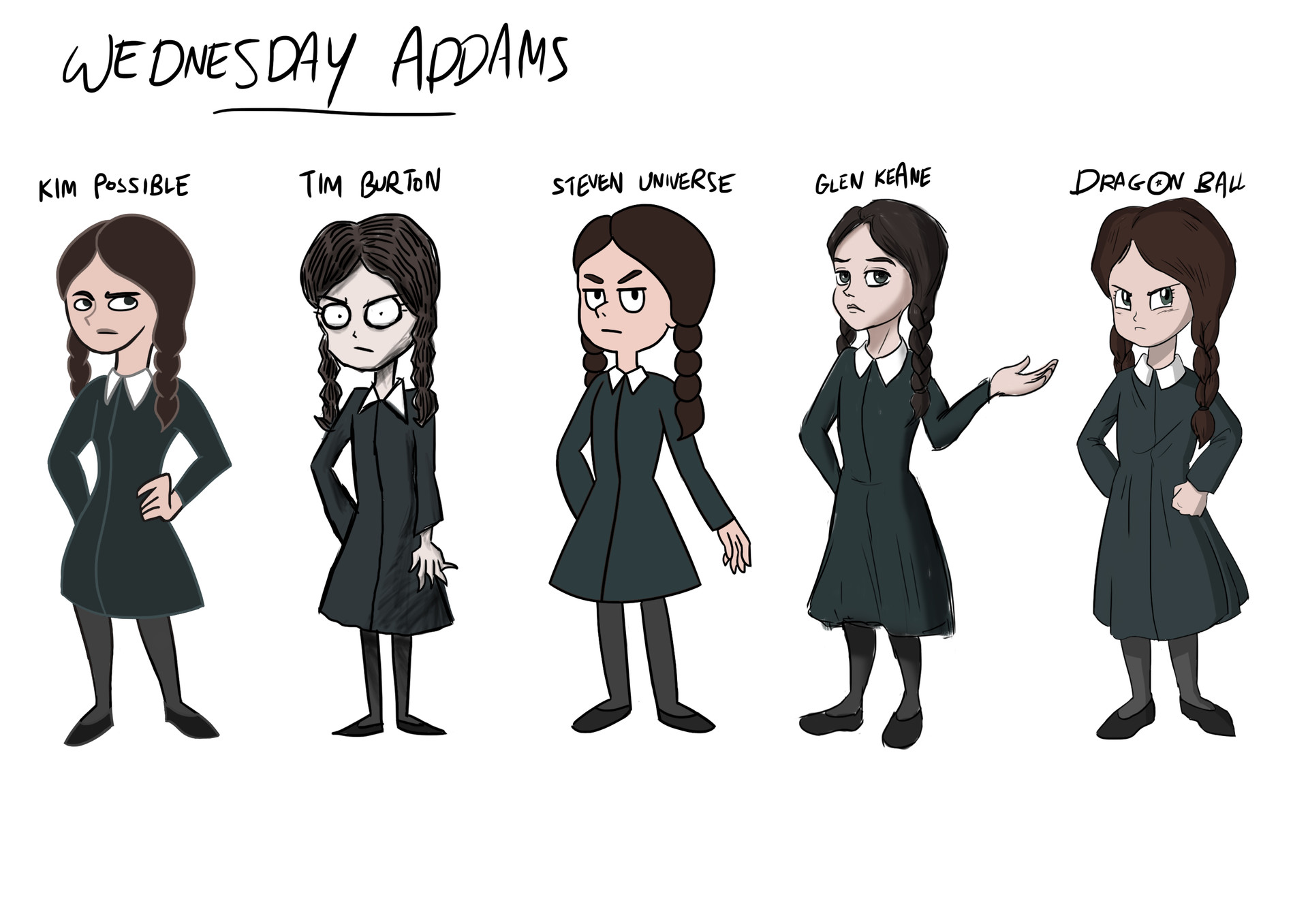 ArtStation - Style Challenge - Wednesday Addams, Zack Chua