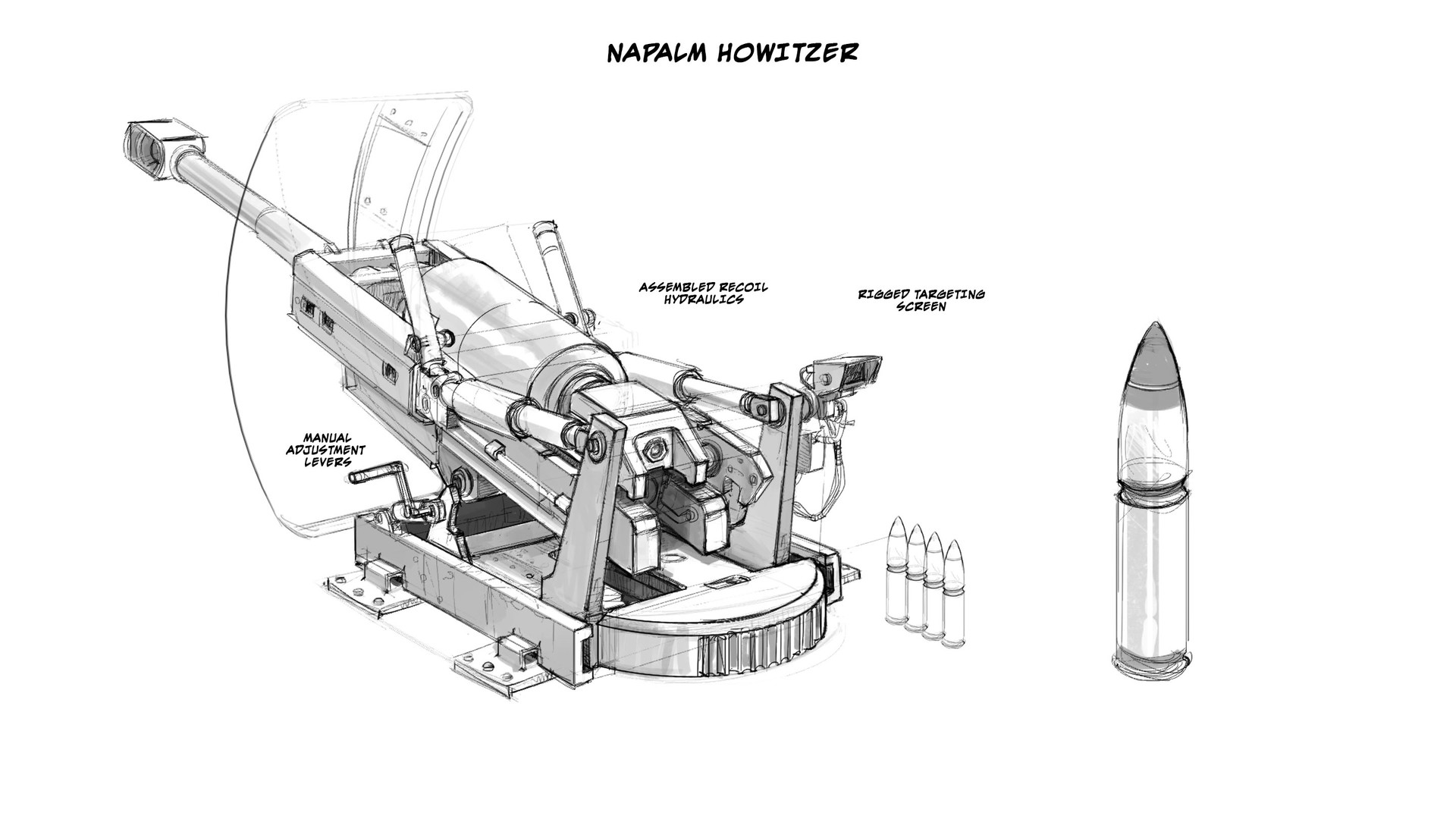 Refitted howitzer sketch