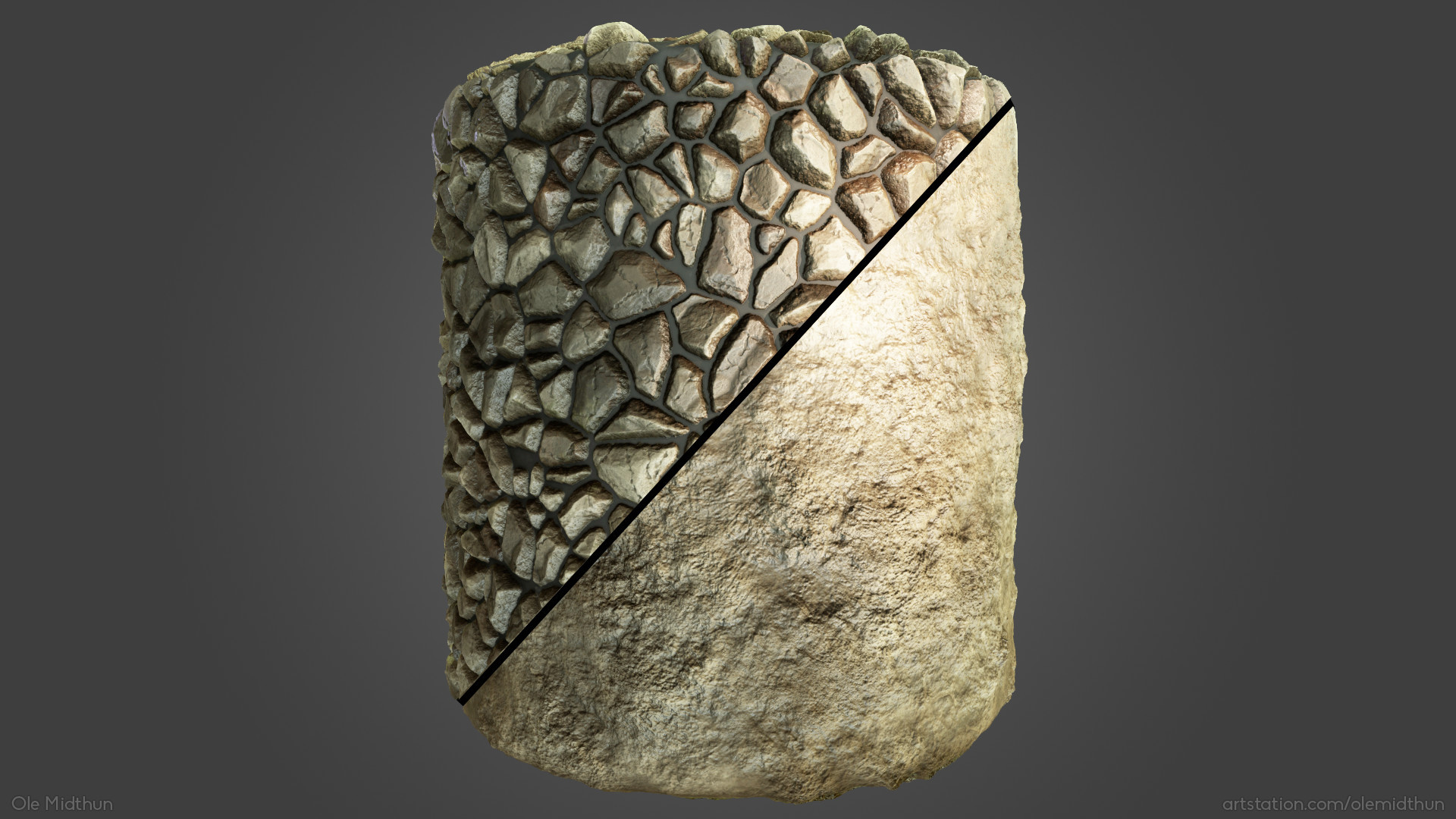Ole midthun stone wall 203
