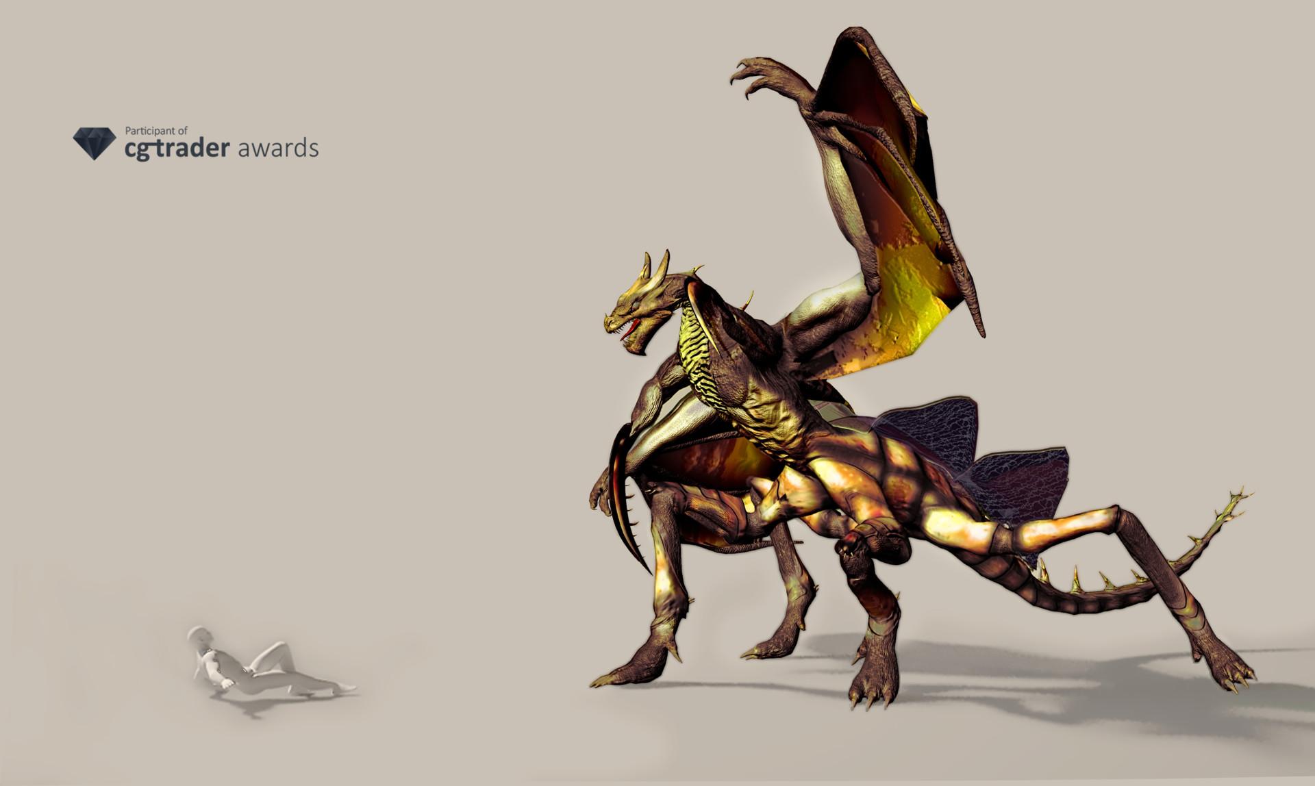 John ceballos dragon insecto render 1