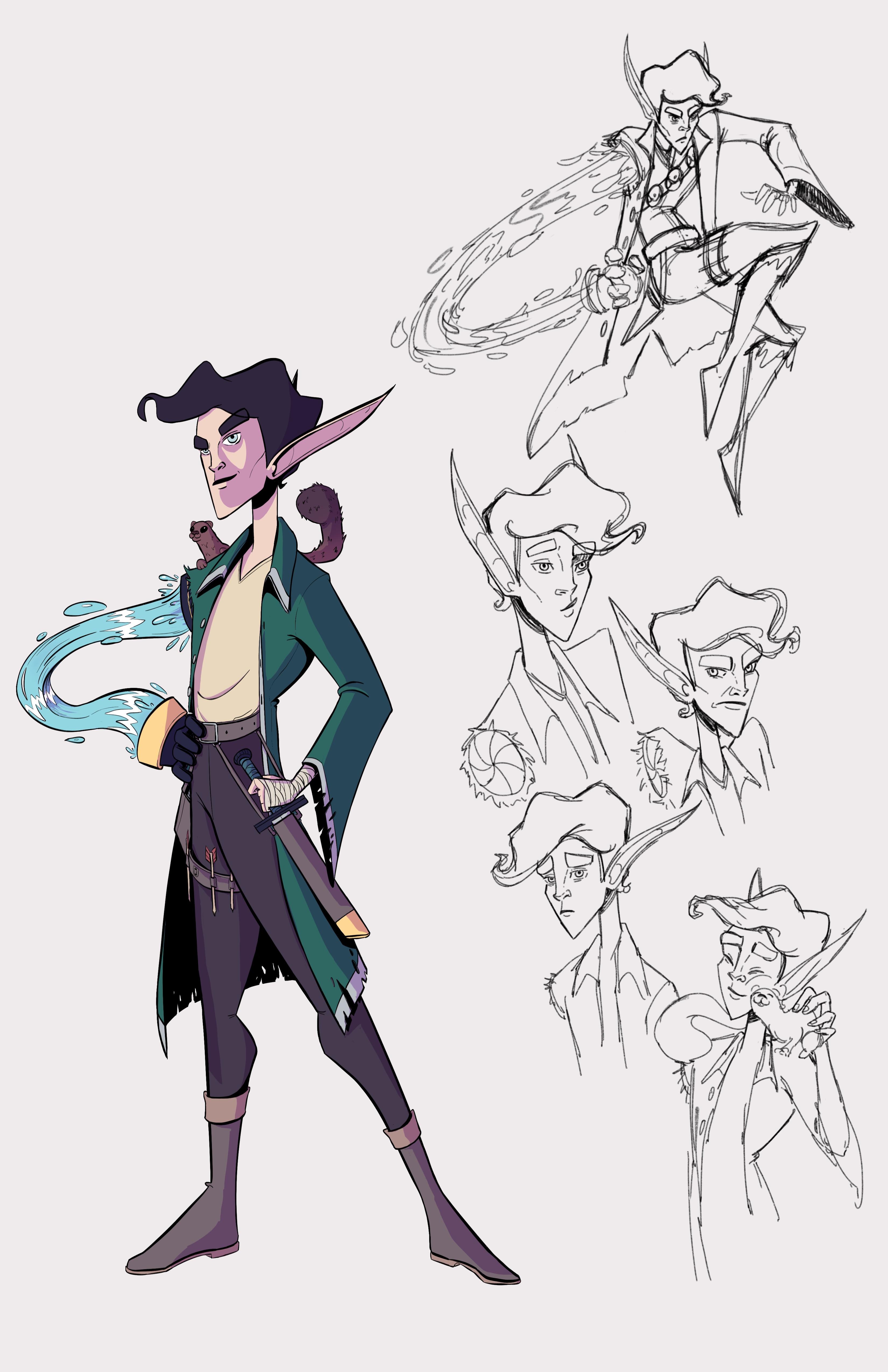 Renlyn - Half Elf Sorcerer